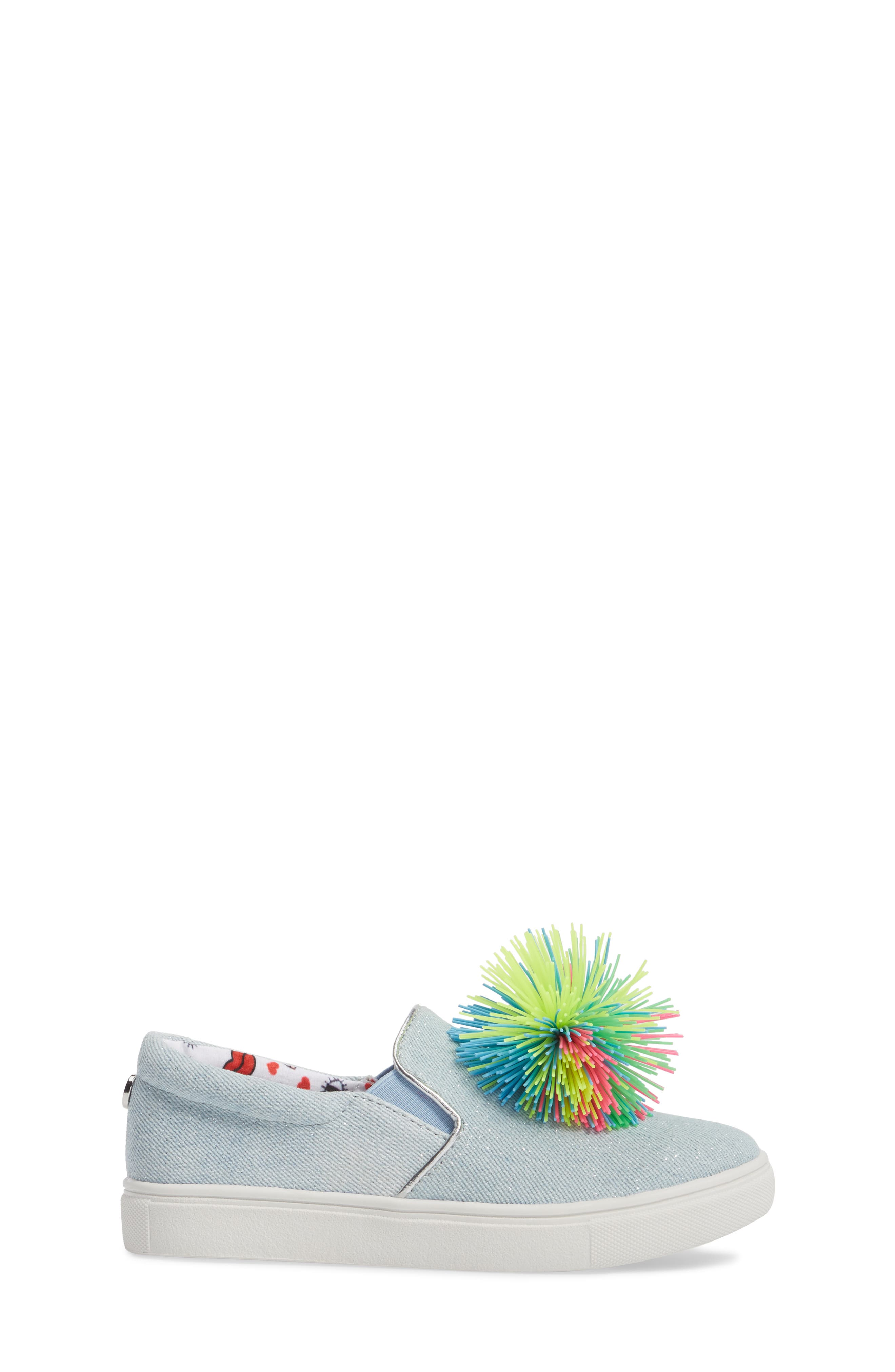 Pompom Slip-On Sneaker,                             Alternate thumbnail 3, color,                             401