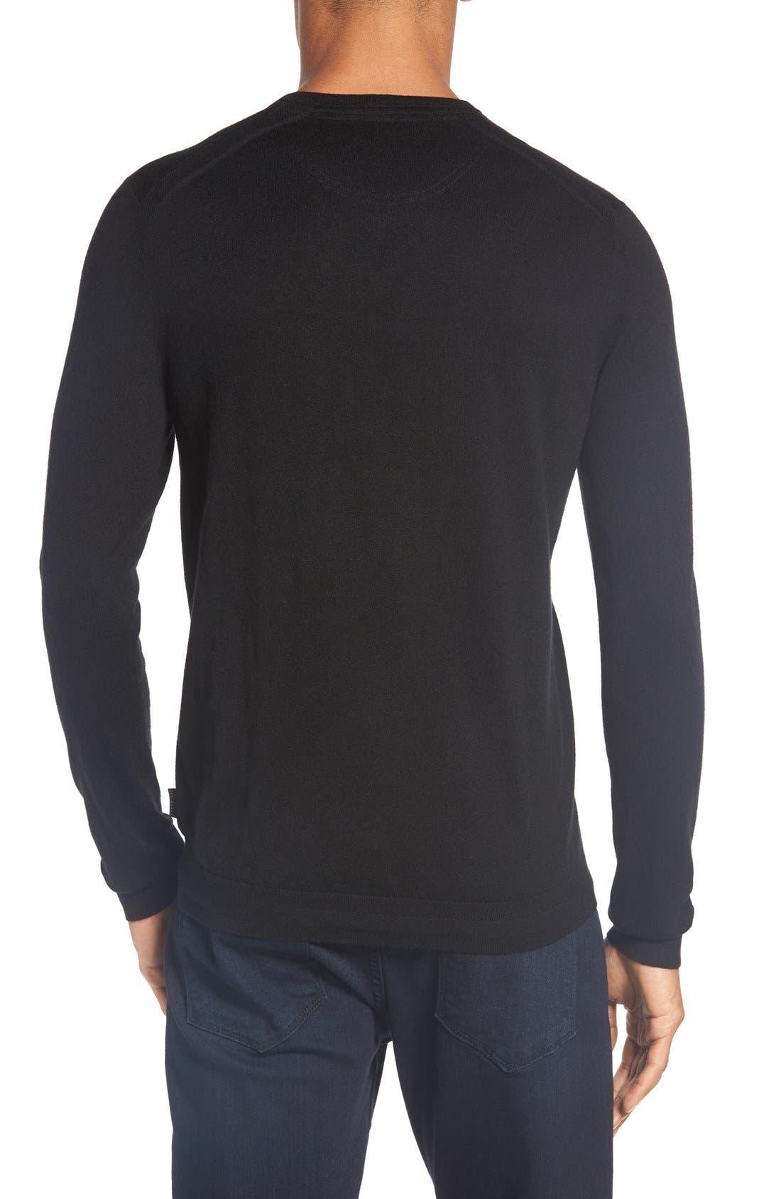 'Cashguy' Trim Fit V-Neck Sweater,                             Alternate thumbnail 2, color,                             001