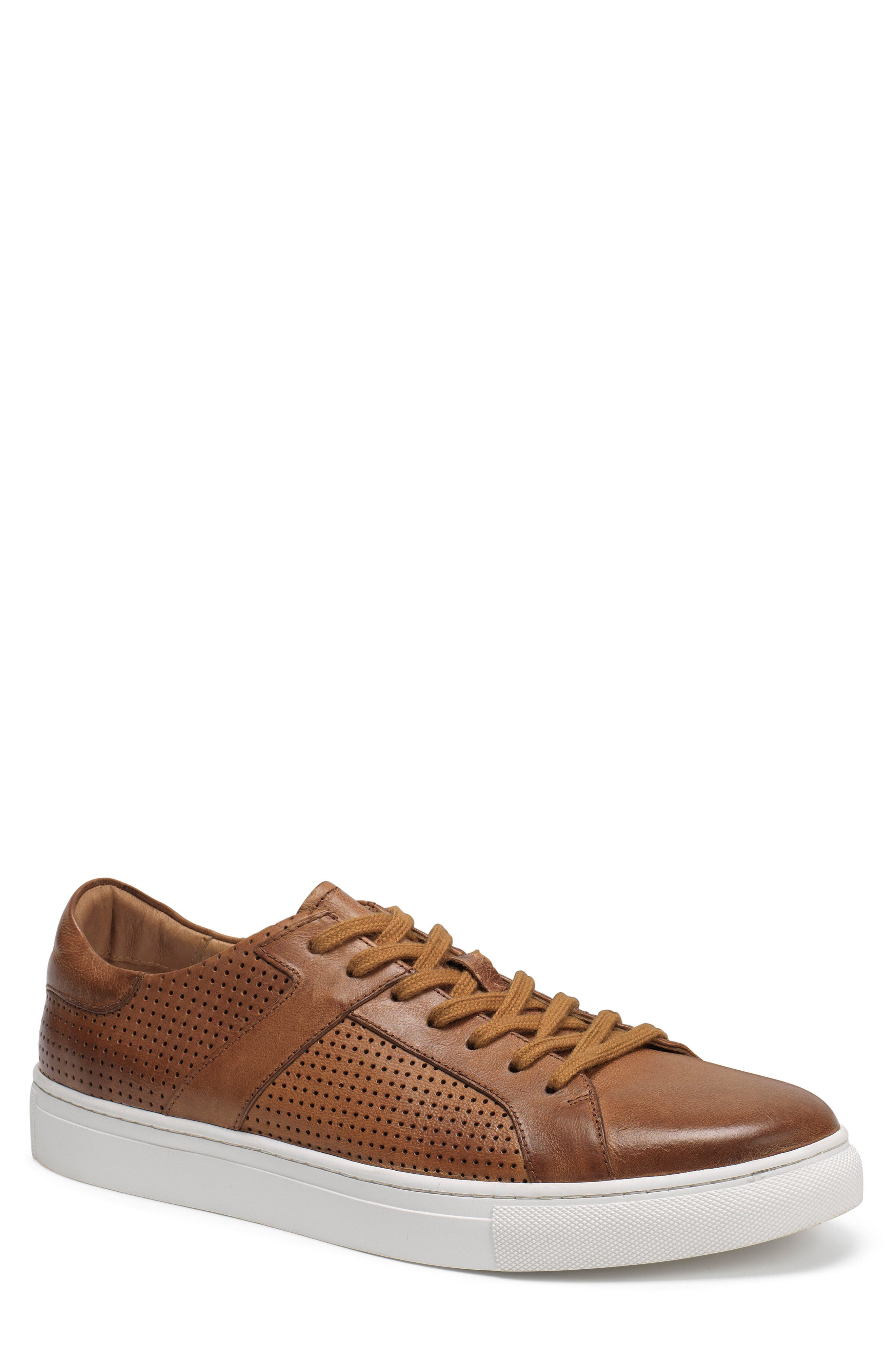 Aaron Sneaker,                         Main,                         color, TAN LEATHER