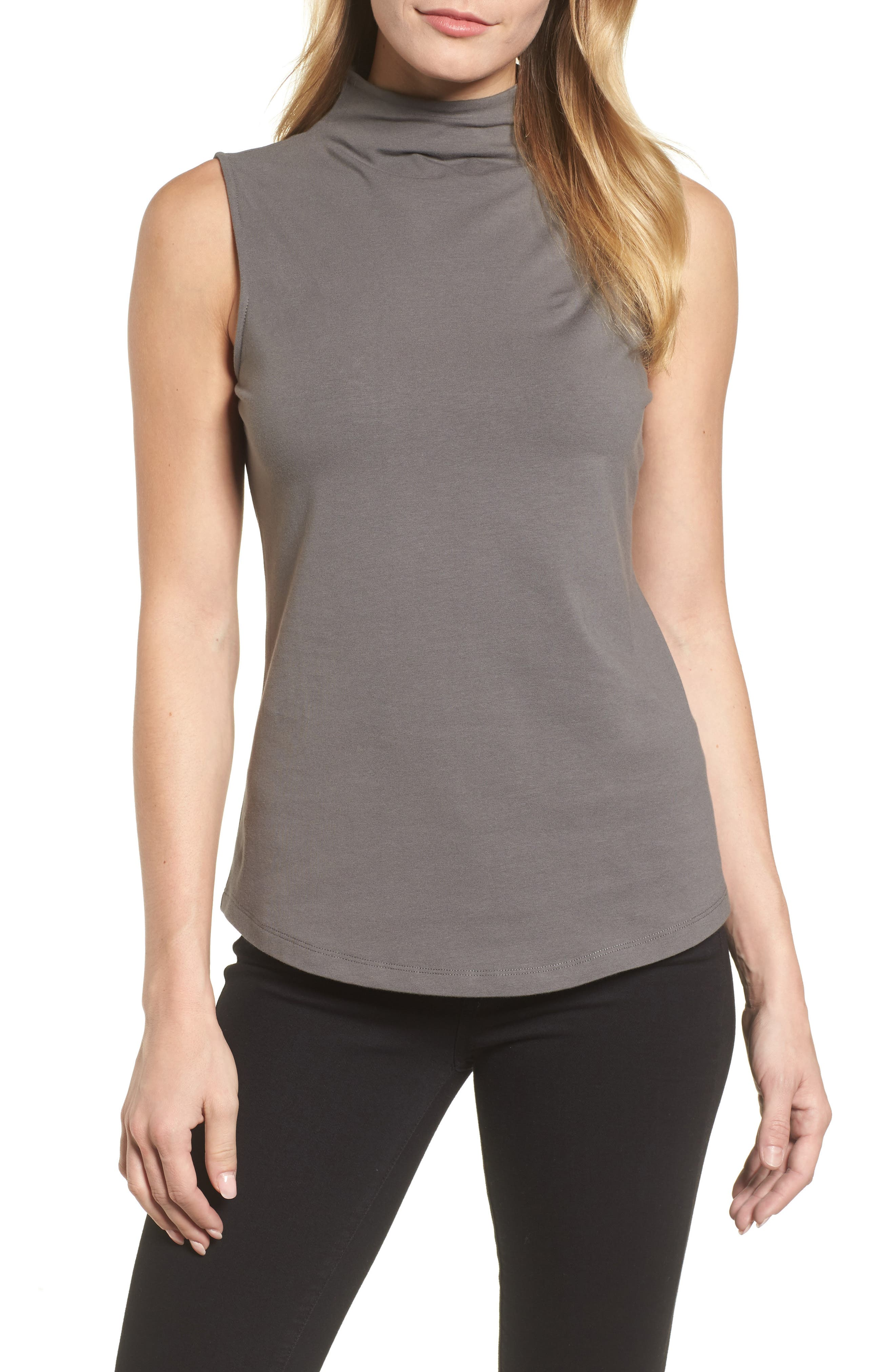 The Perfect Mock Neck Top,                             Main thumbnail 3, color,