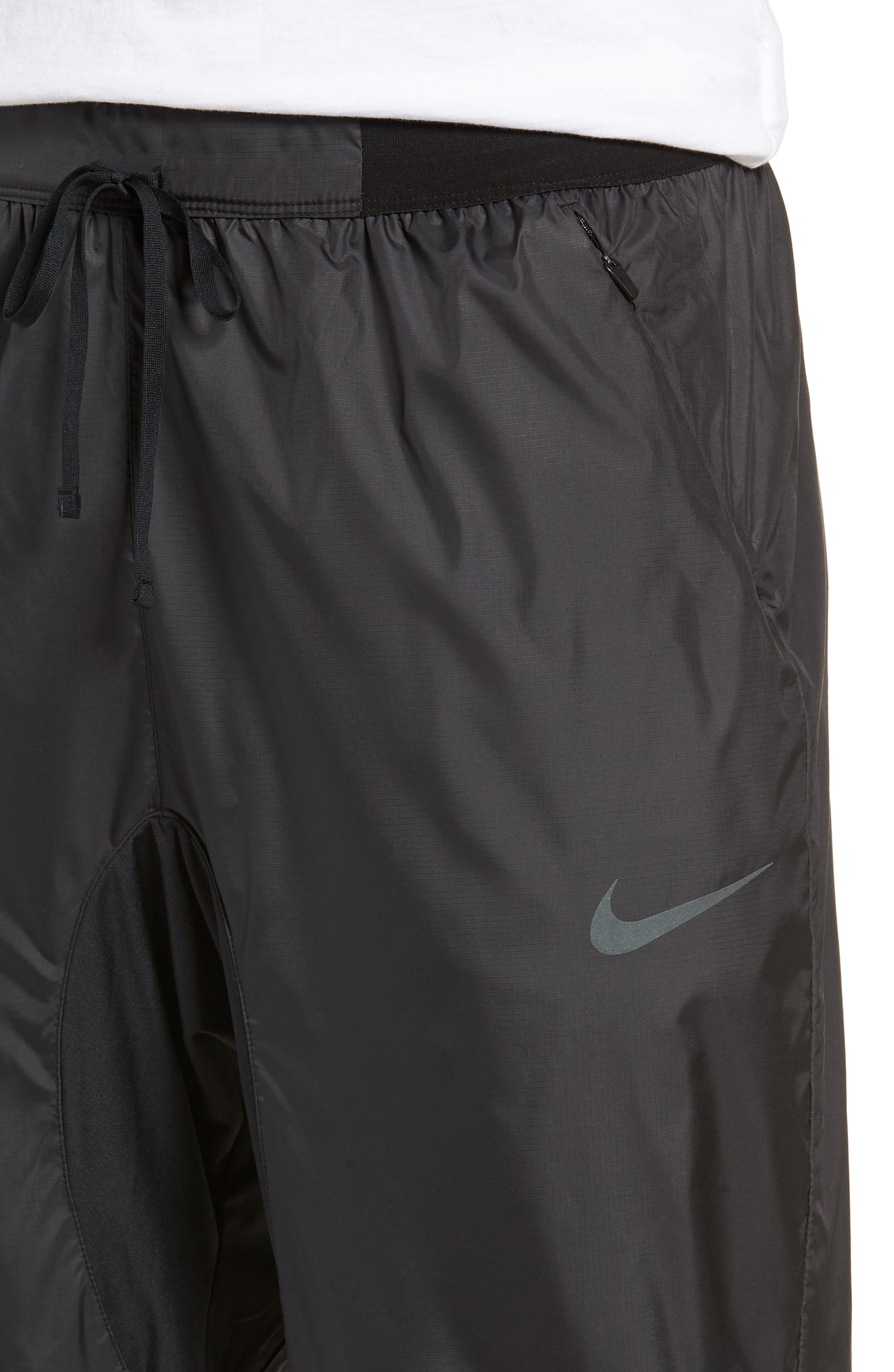 Dry Division Tech Running Pants,                             Alternate thumbnail 4, color,                             BLACK/ BLACK
