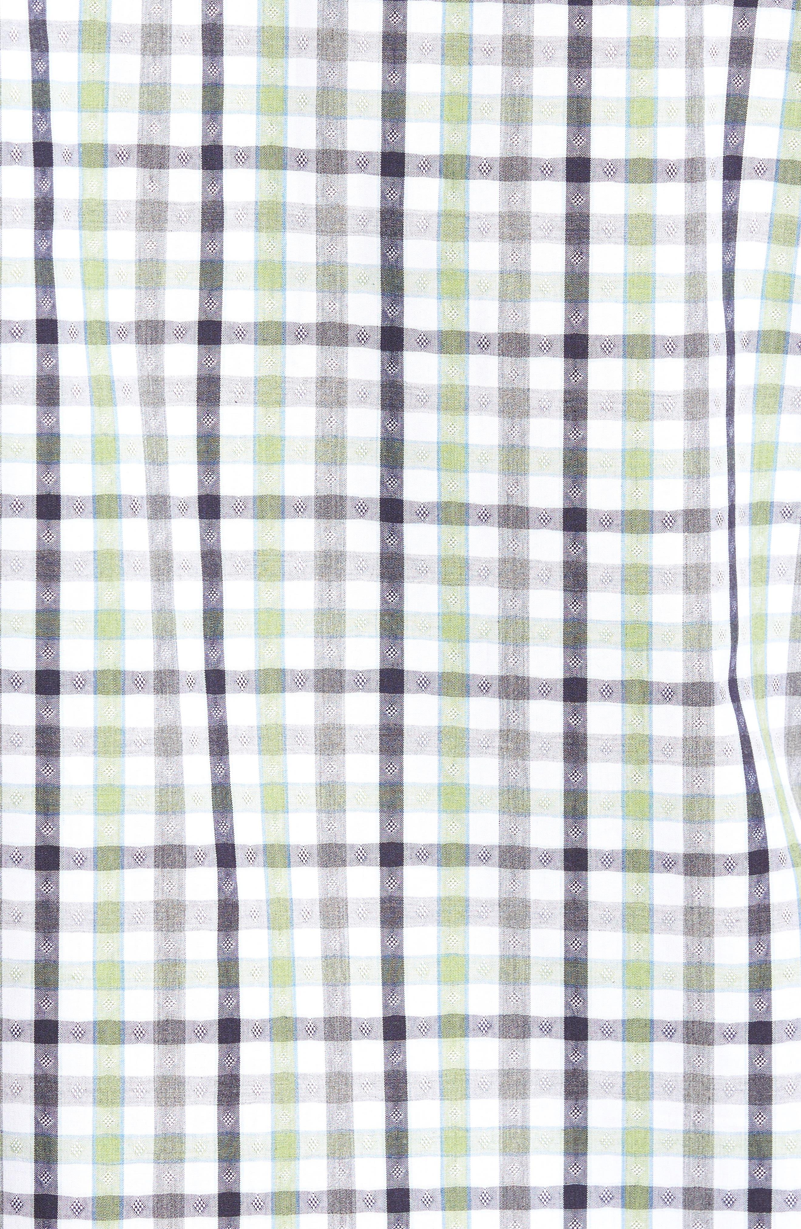Plaid Sport Shirt,                             Alternate thumbnail 5, color,                             300