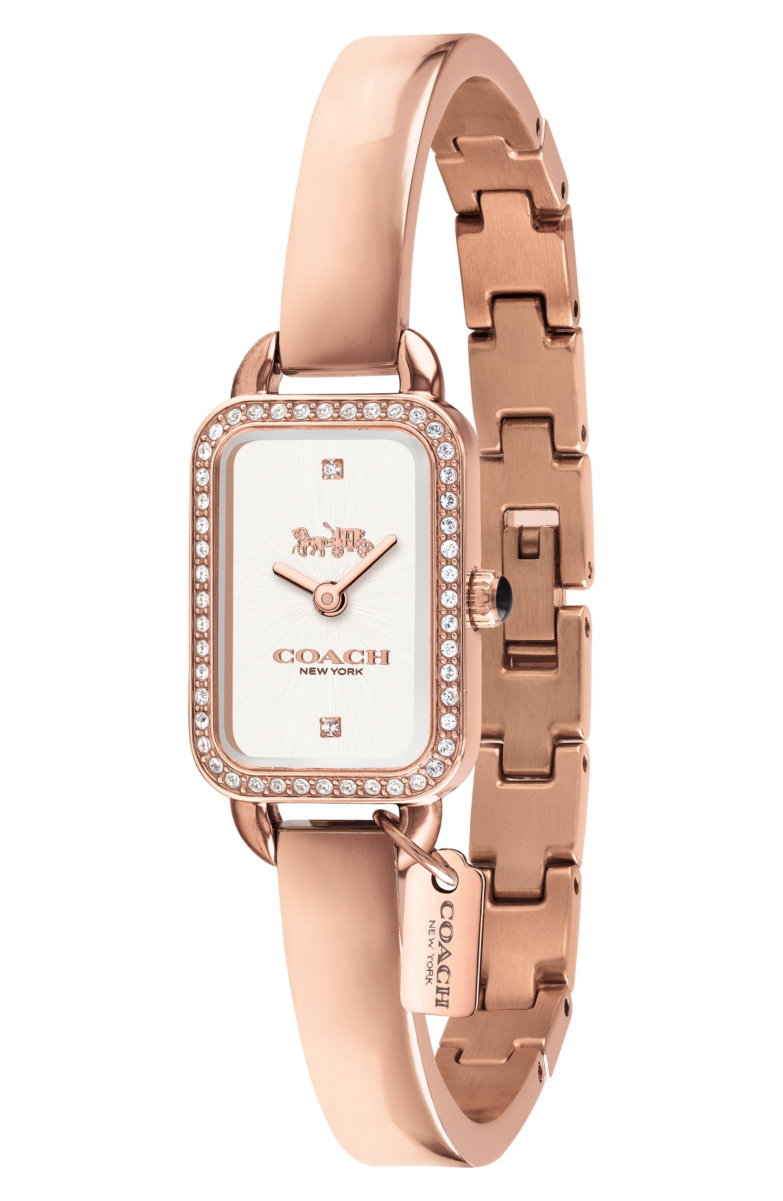 Ludlow Bracelet Watch, 17mm,                             Alternate thumbnail 3, color,                             ROSE GOLD