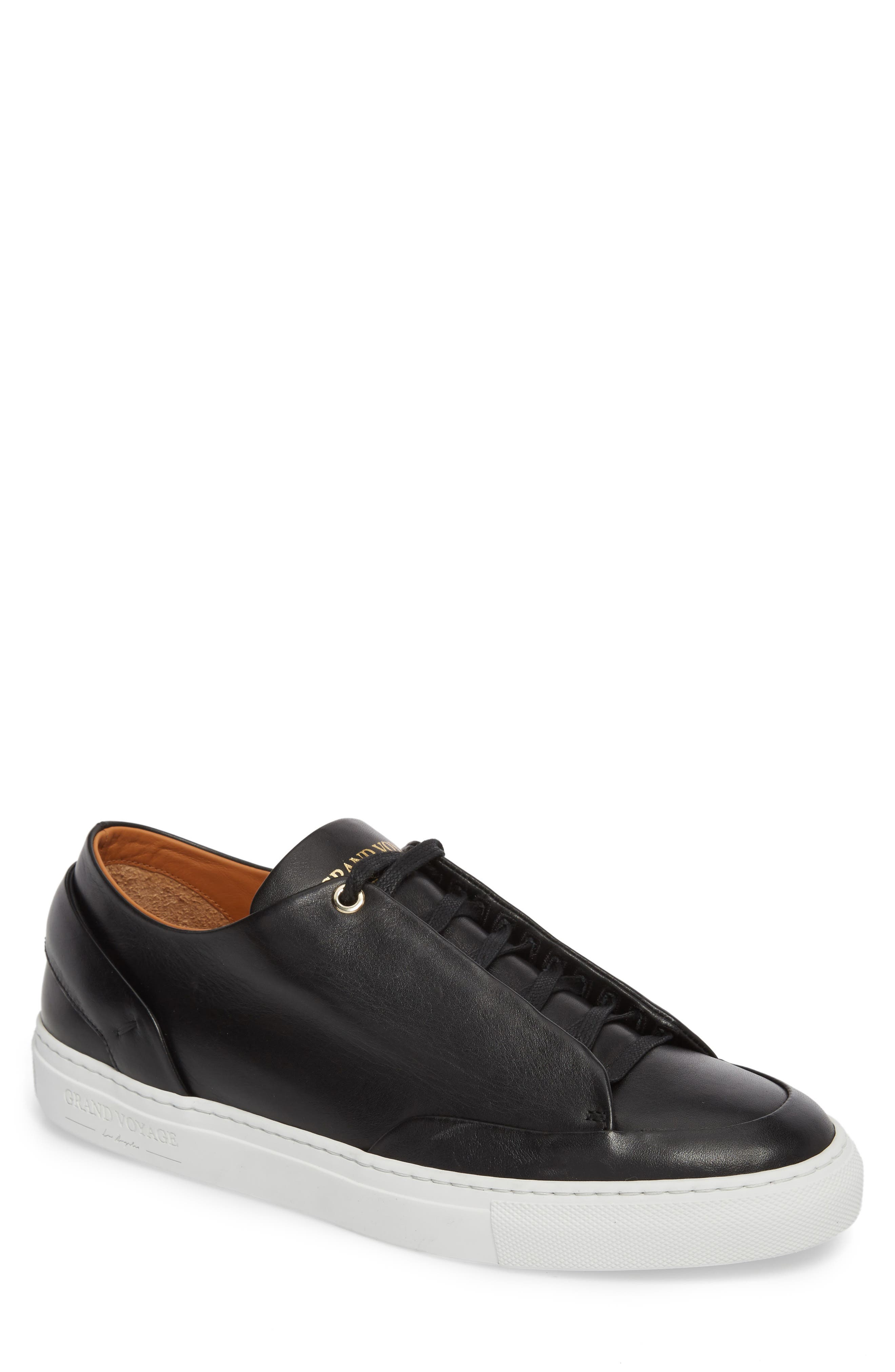 Avedon Sneaker,                         Main,                         color, BLACK LEATHER