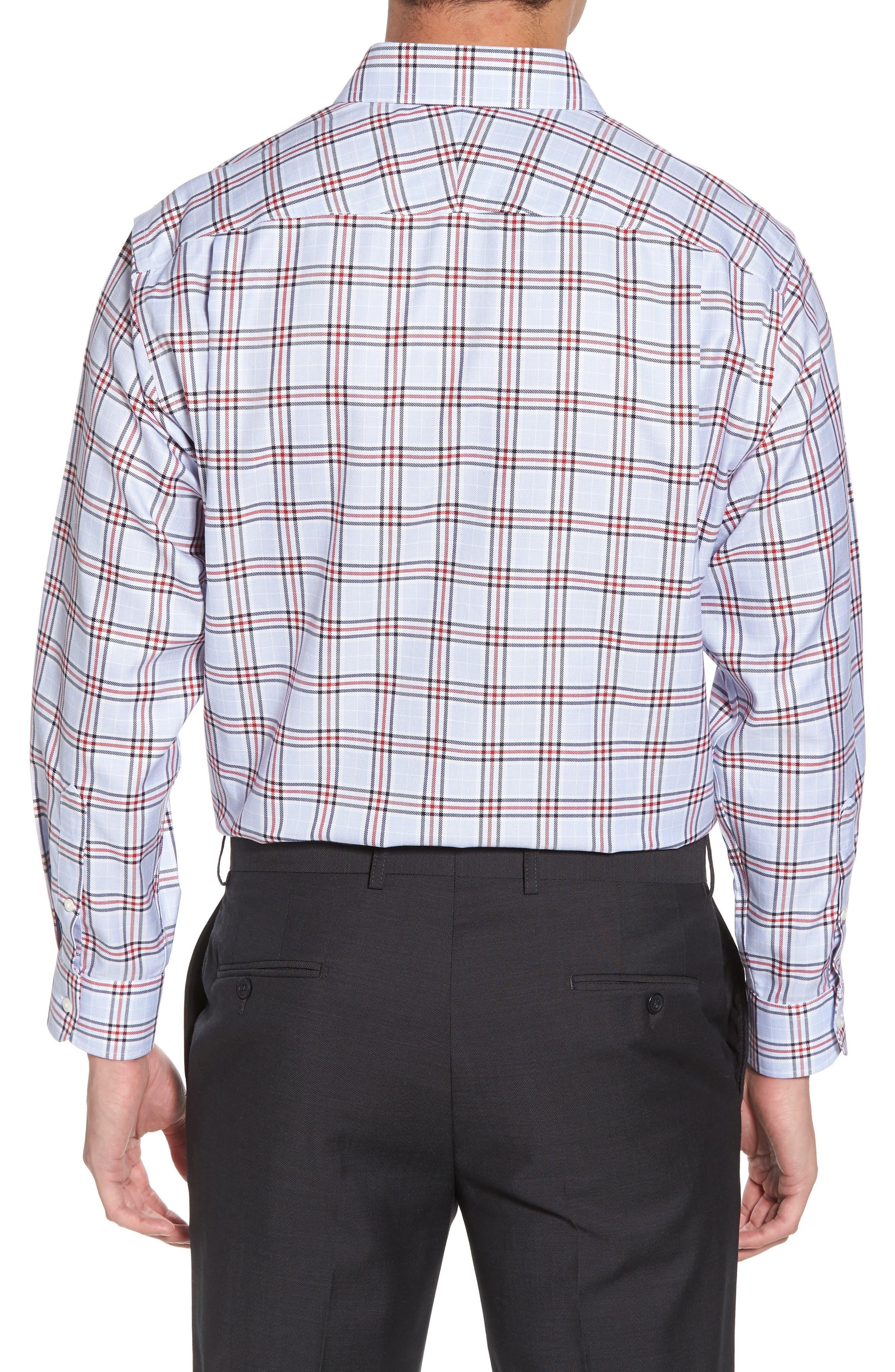 Smartcare<sup>™</sup> Classic Fit Plaid Dress Shirt,                             Alternate thumbnail 3, color,                             601
