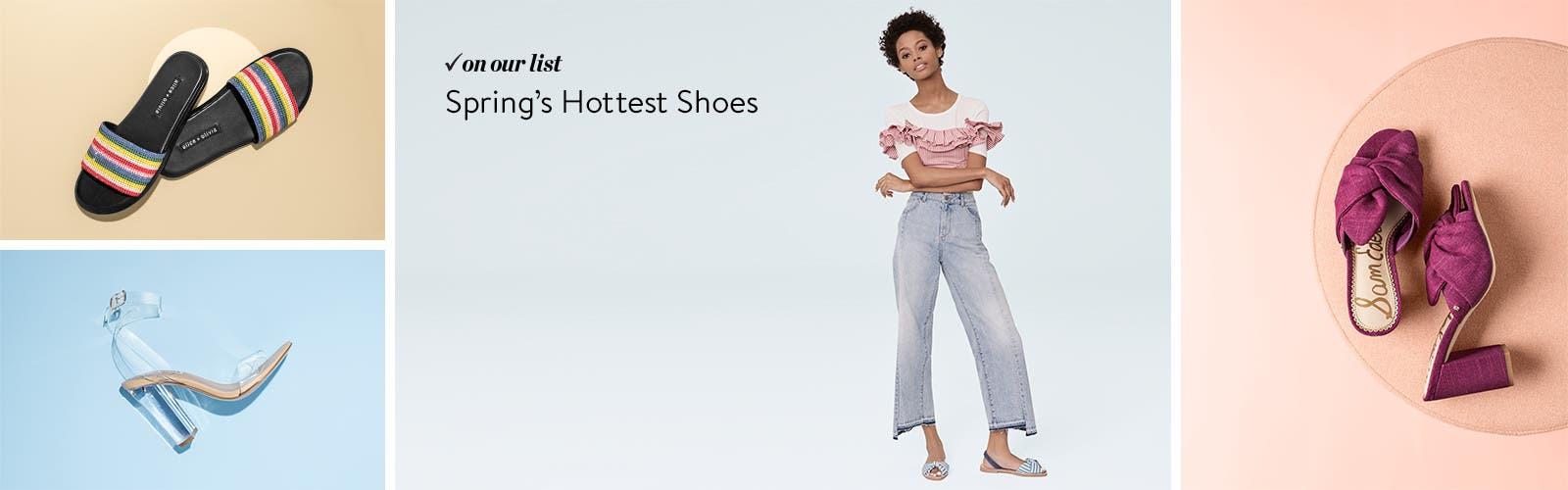 Women's spring shoe trends.