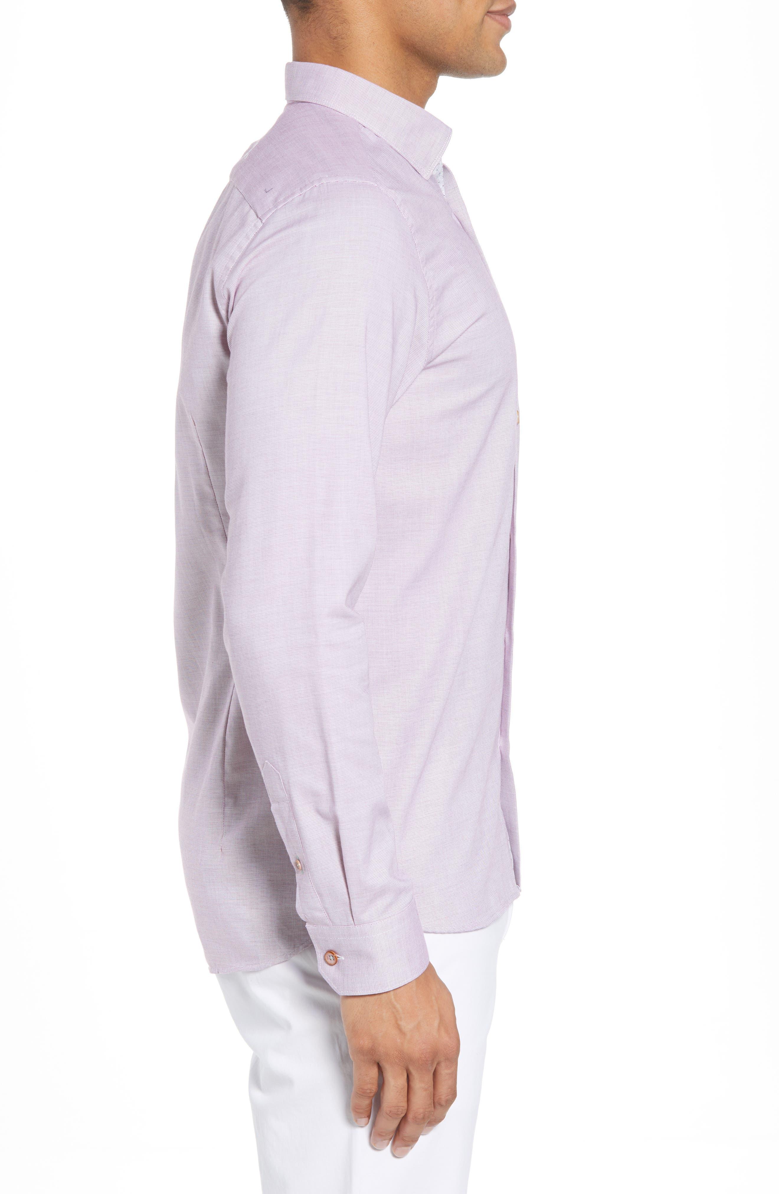 Slim Fit Textured Sport Shirt,                             Alternate thumbnail 15, color,