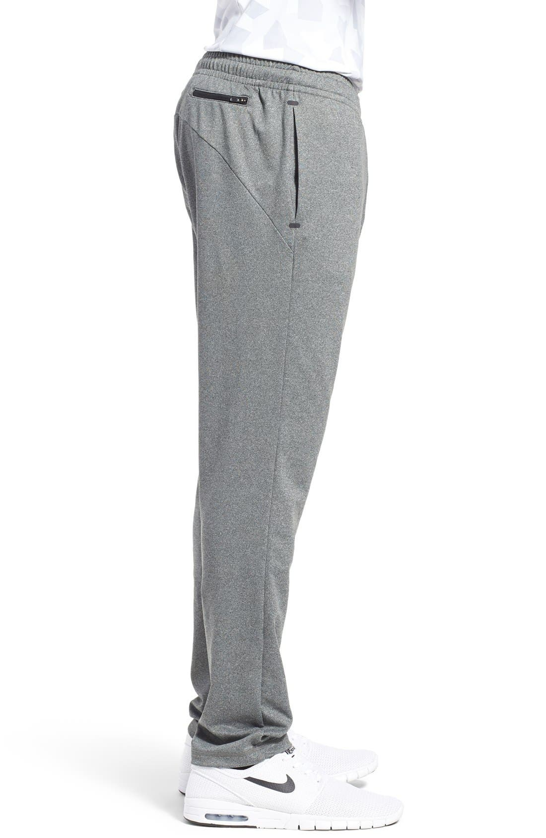 'Pyrite' Tapered Fit Knit Athletic Pants,                             Alternate thumbnail 4, color,                             GREY OBSIDIAN