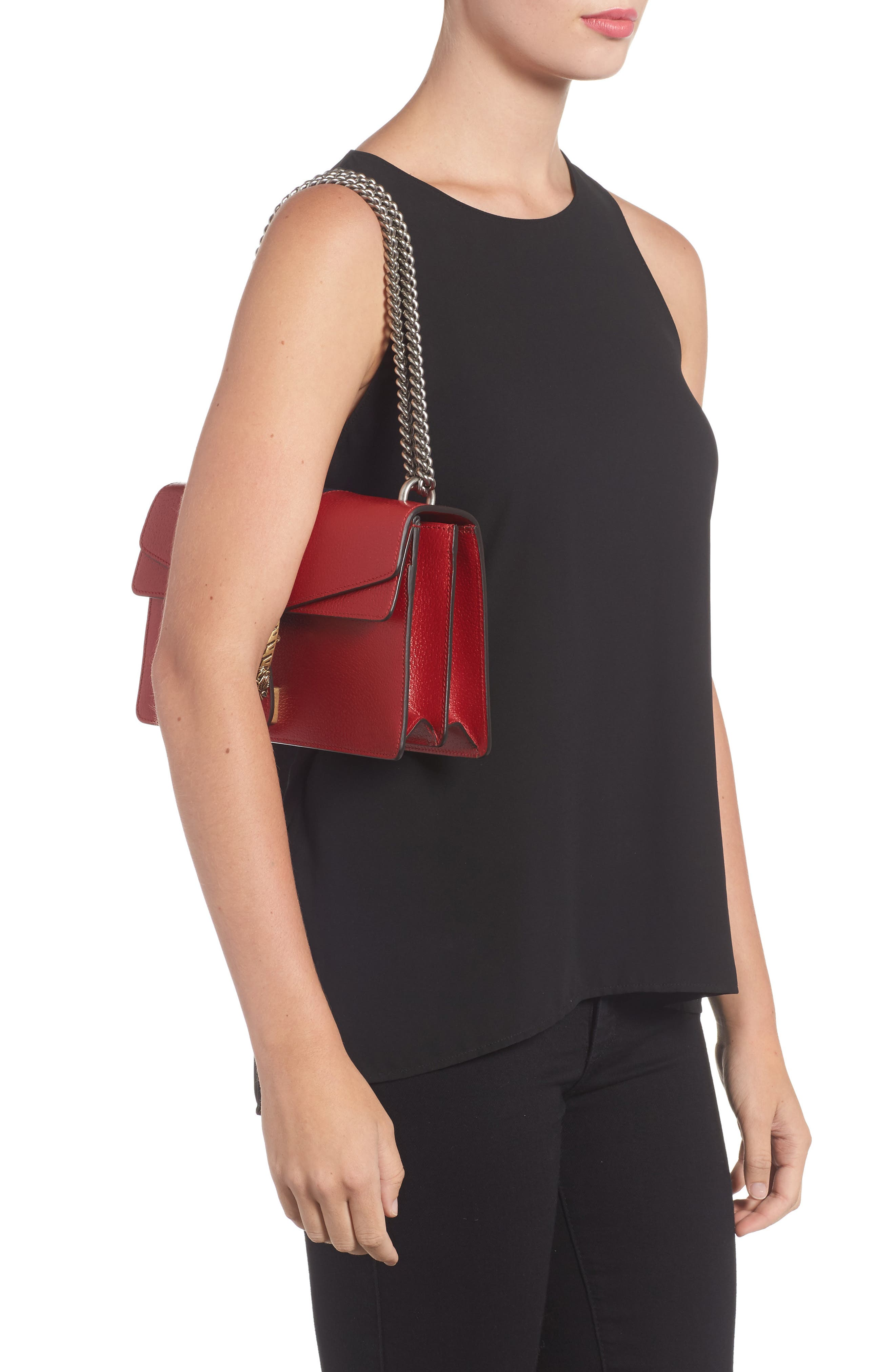 Dionysus Leather Shoulder Bag,                             Alternate thumbnail 2, color,                             625