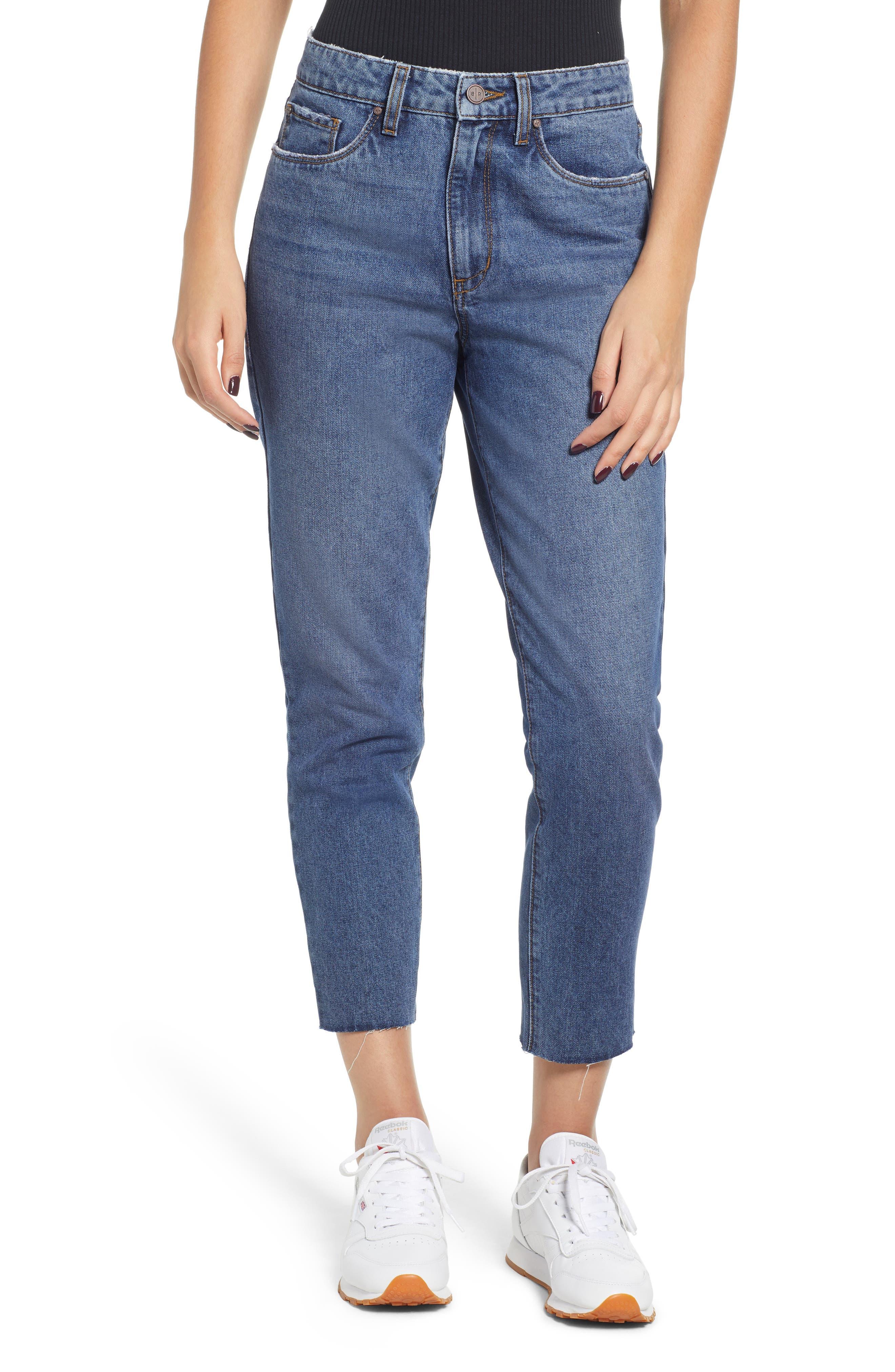 High Waist Straight Leg Crop Jeans,                             Main thumbnail 1, color,                             401