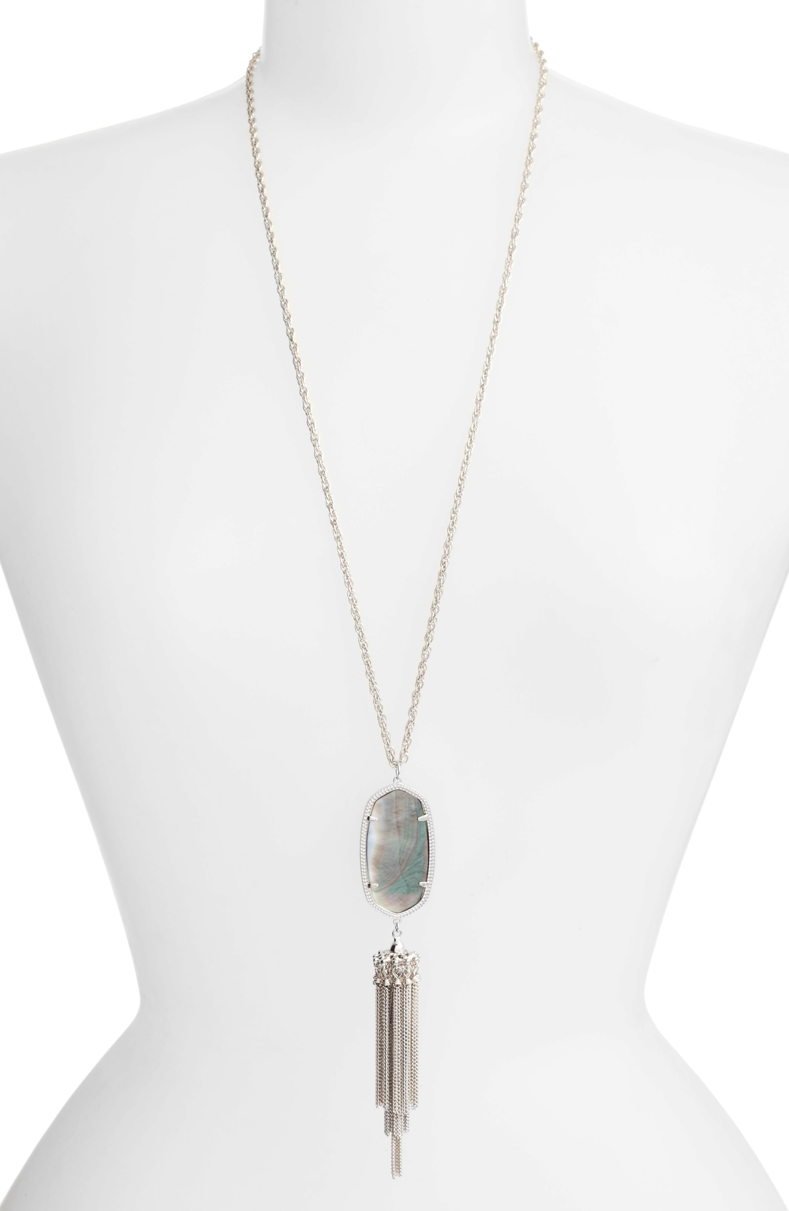 Rayne Stone Tassel Pendant Necklace,                             Main thumbnail 31, color,