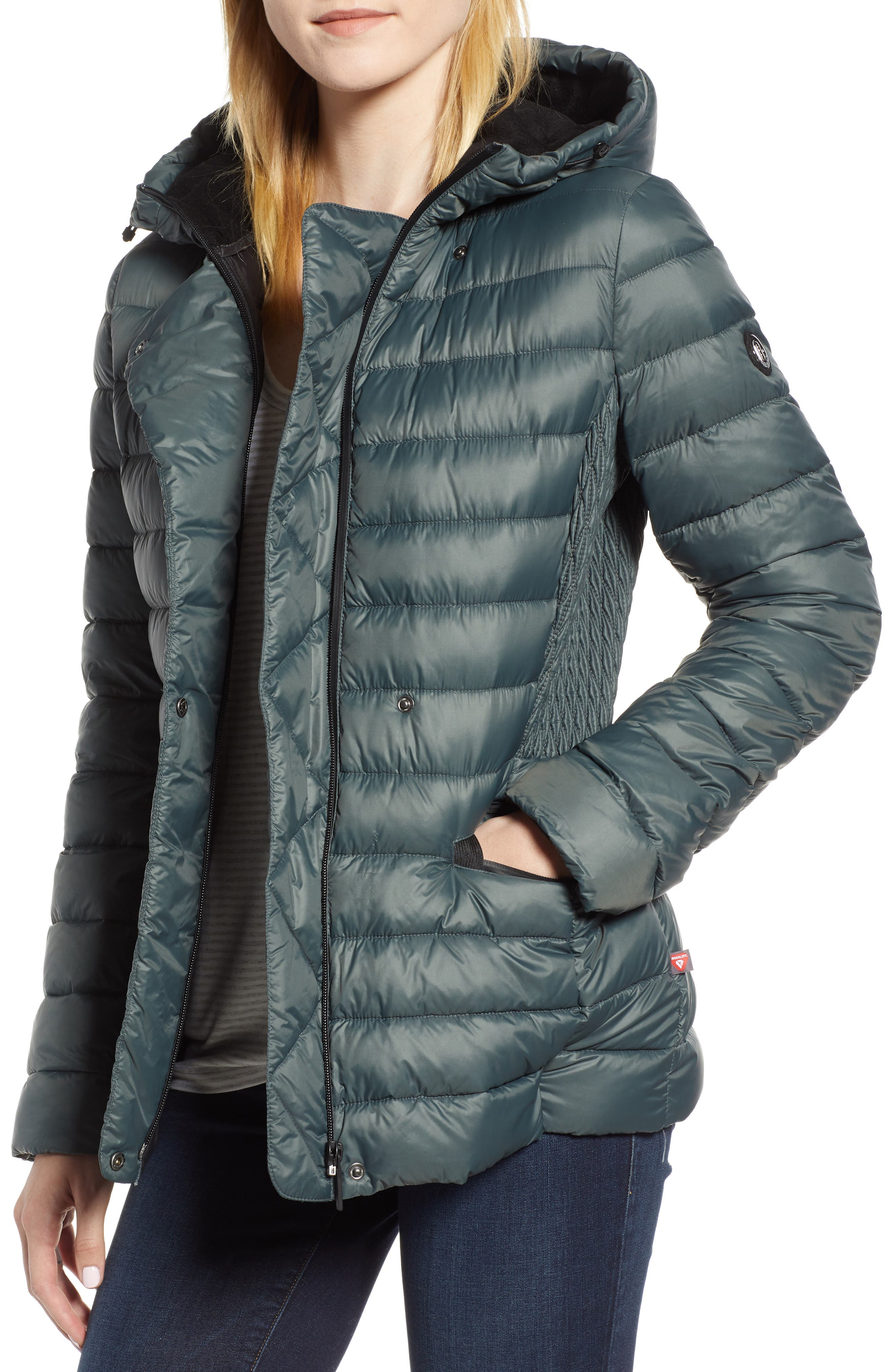Sporty Hooded Puffer Jacket, Main, color, 309