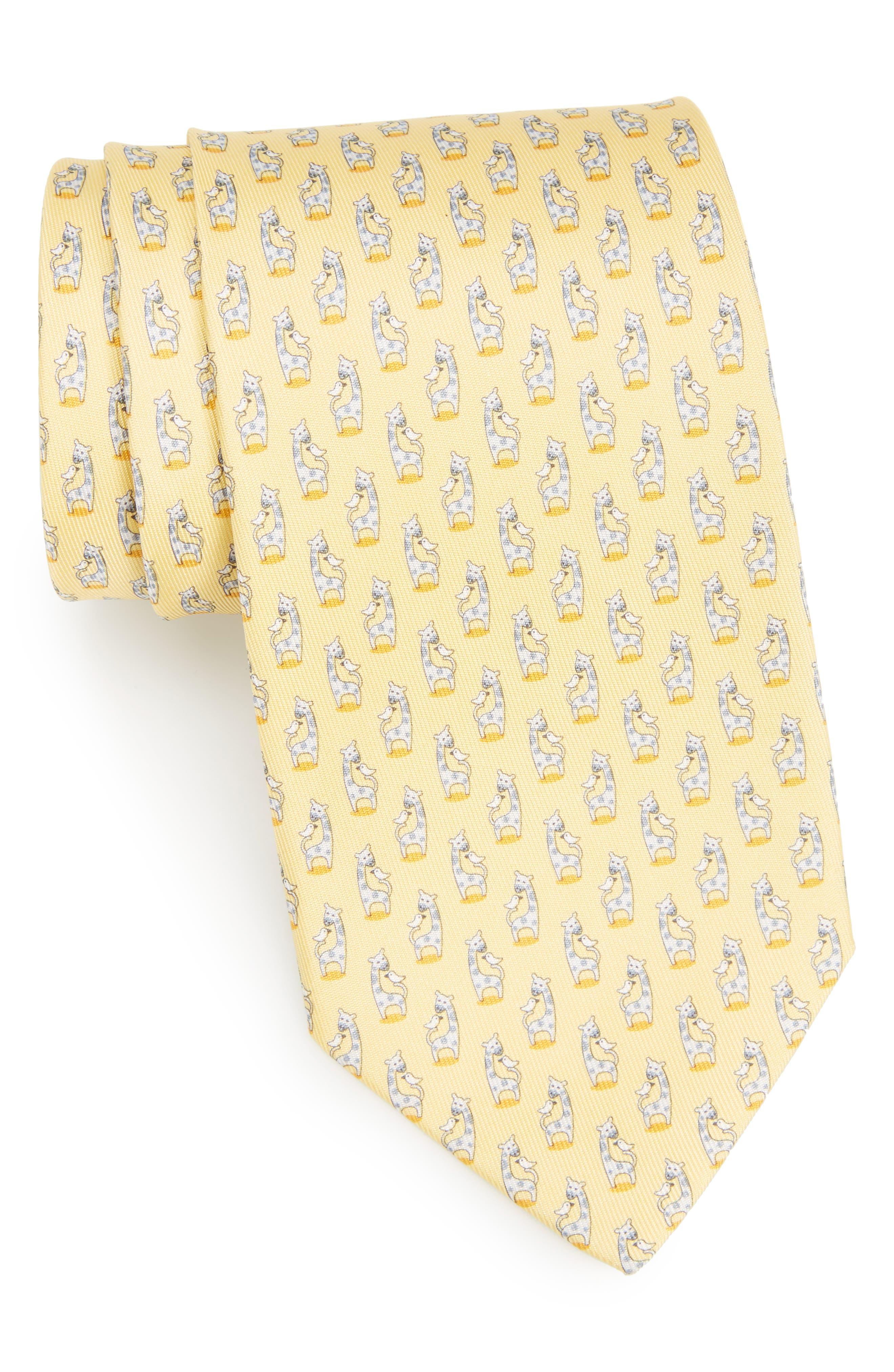 Giraffe Silk Tie,                             Main thumbnail 4, color,