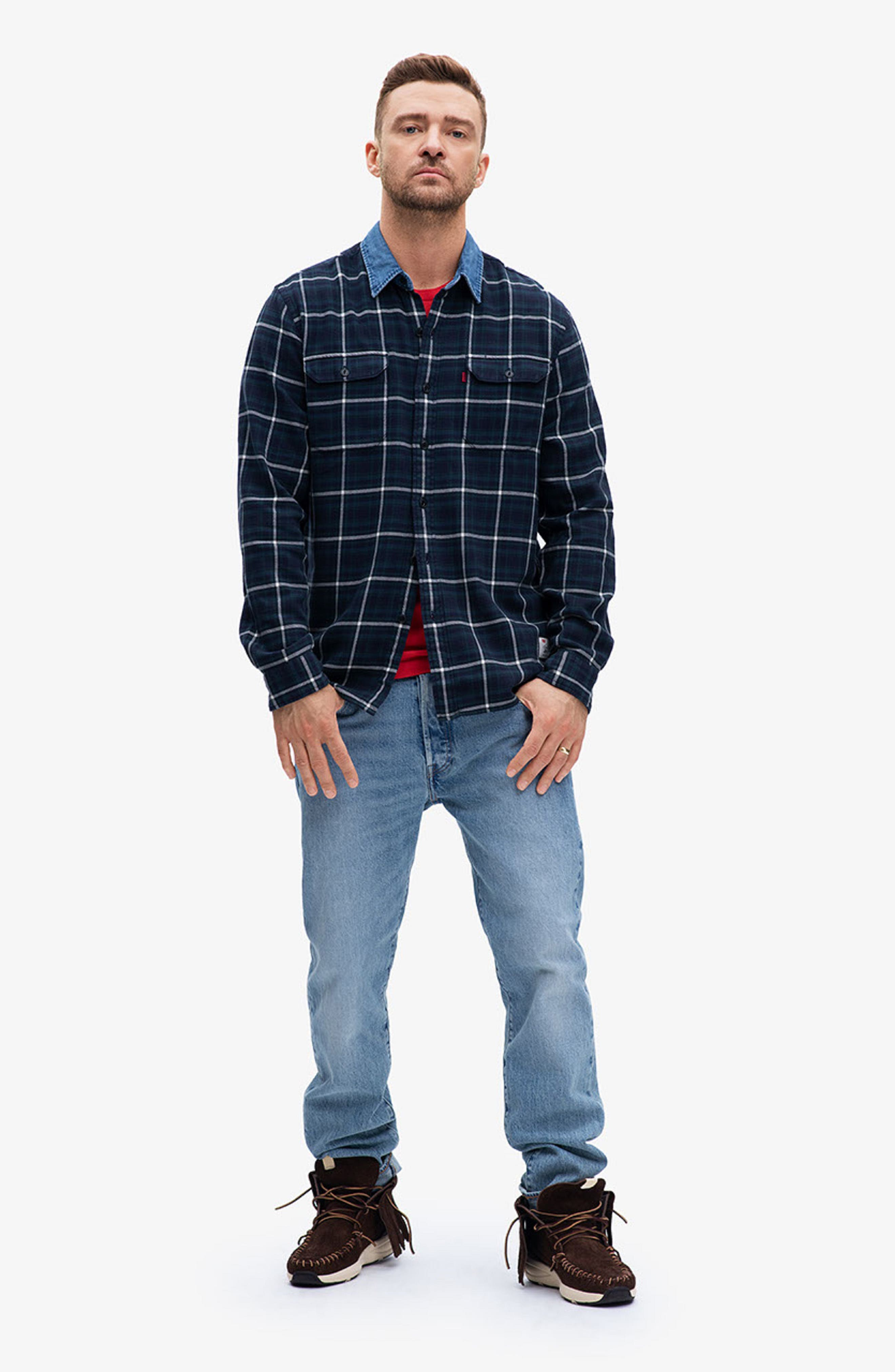 x Justin Timberlake 501<sup>®</sup> Slim Taper Jeans,                             Alternate thumbnail 2, color,                             HILLMAN