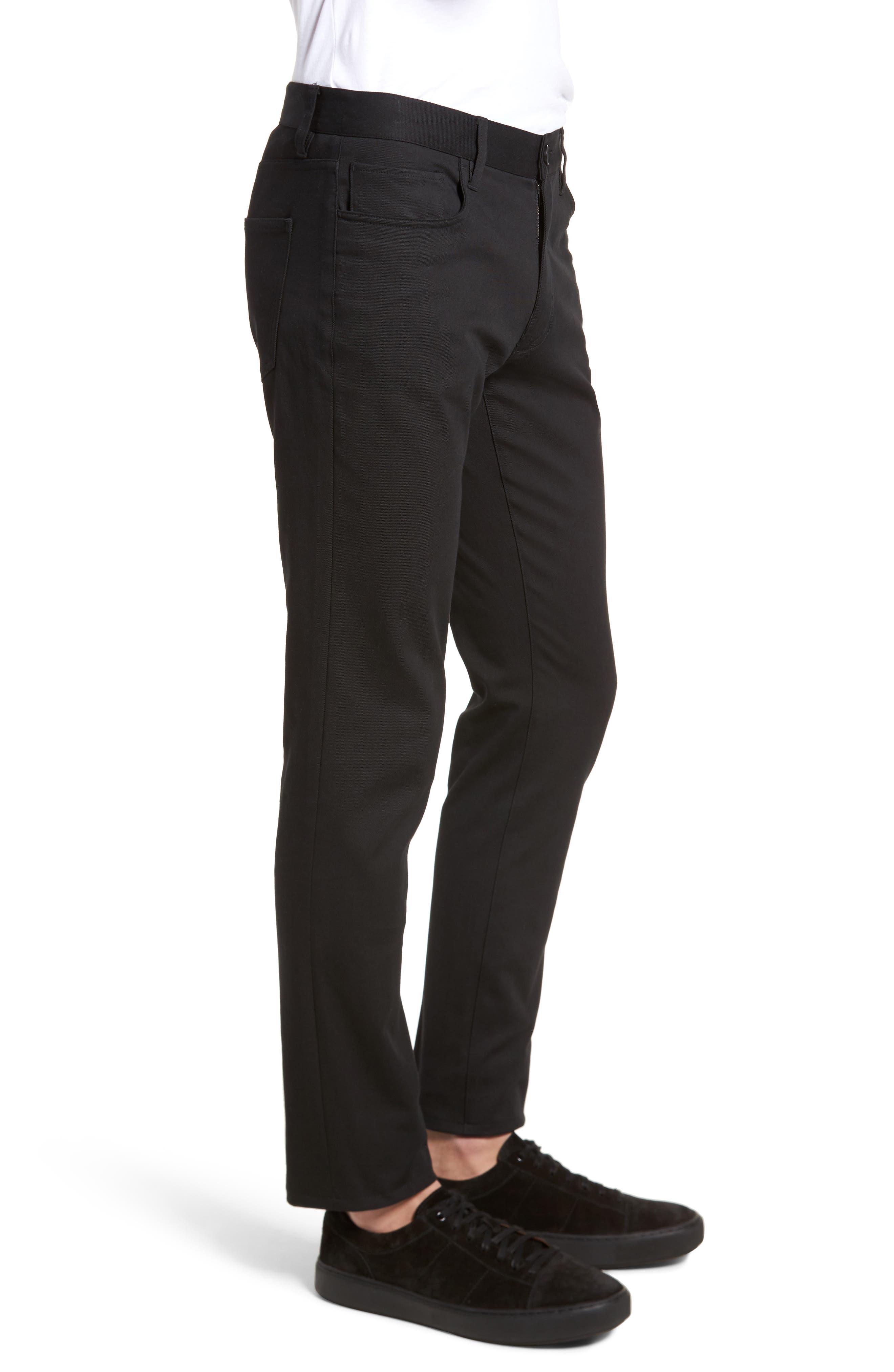 Skinny Slim Fit Pants,                             Alternate thumbnail 3, color,                             001