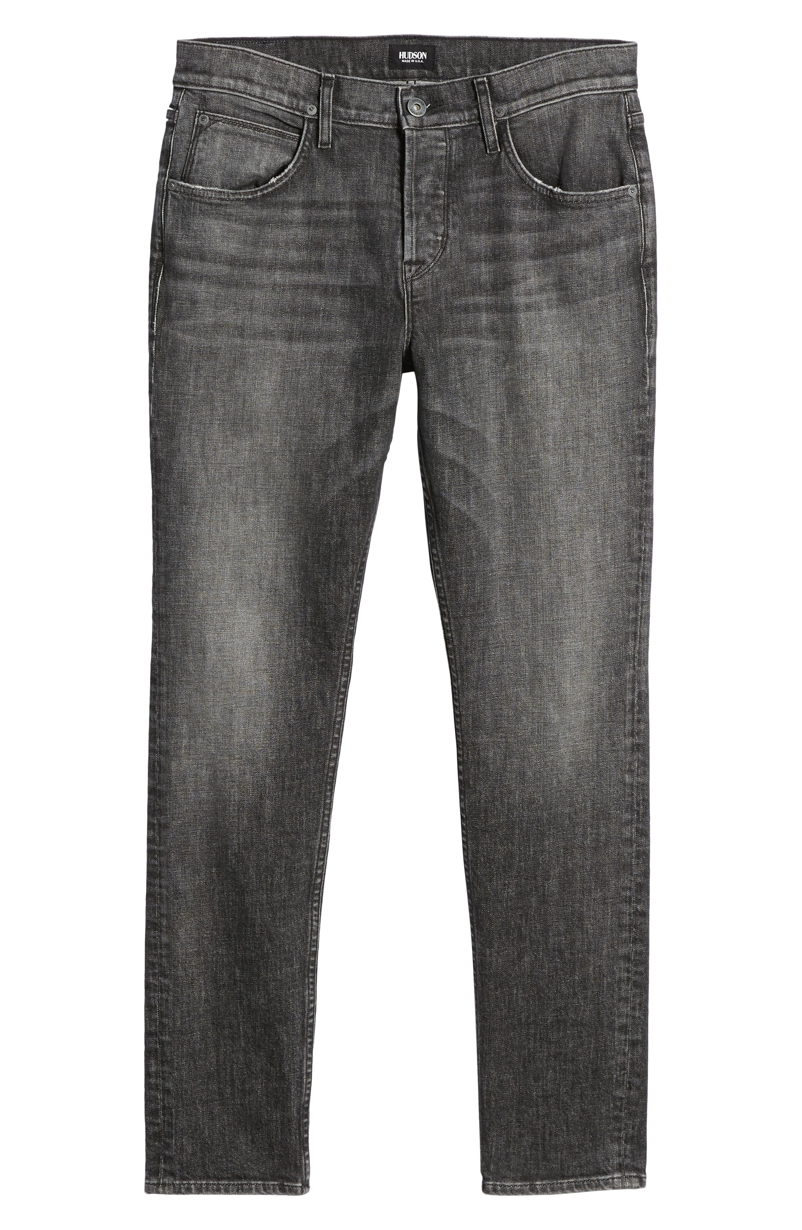 Axl Skinny Fit Jeans,                             Alternate thumbnail 6, color,                             001