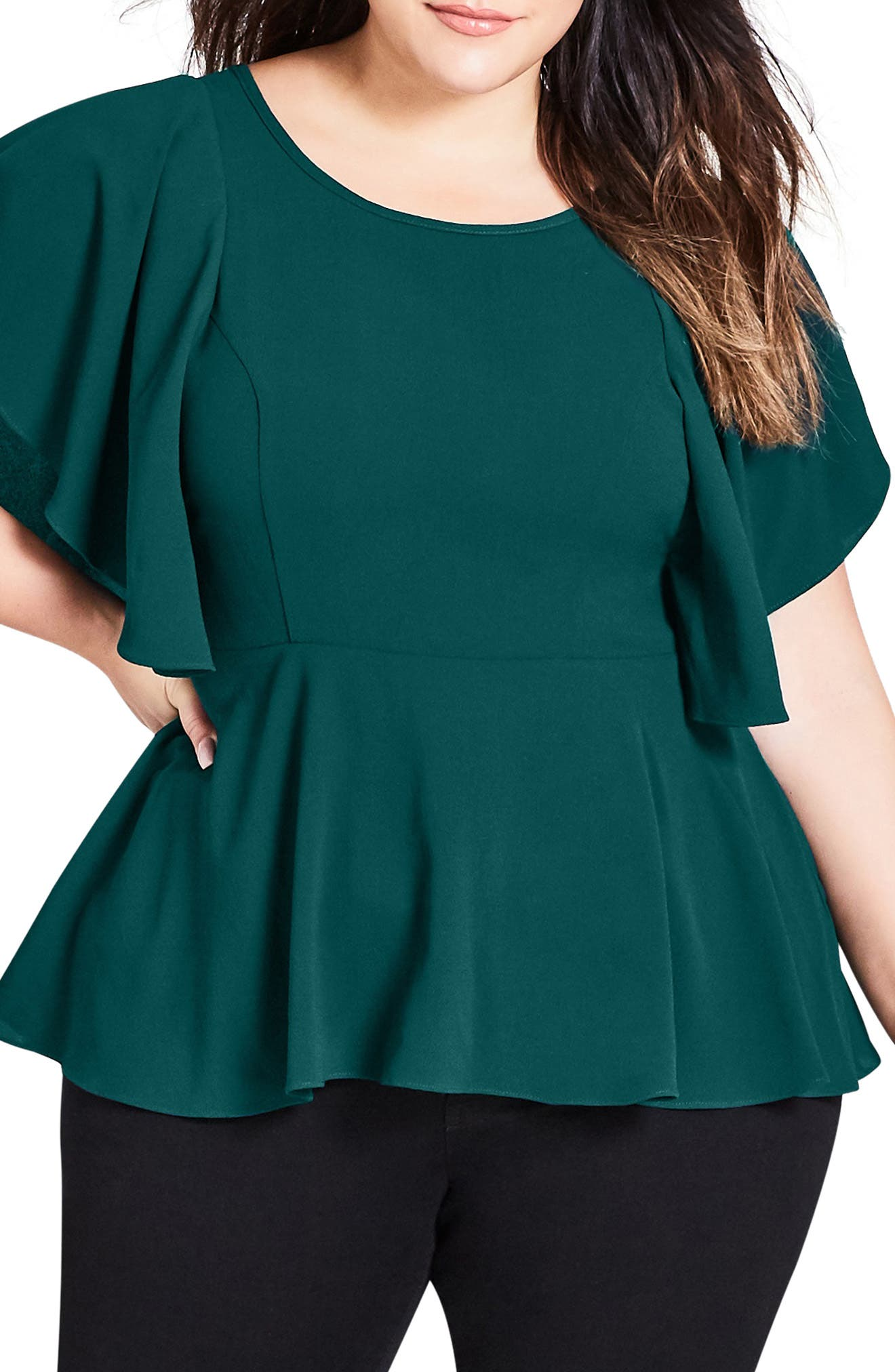 Romantic Mood Top,                         Main,                         color, JADE