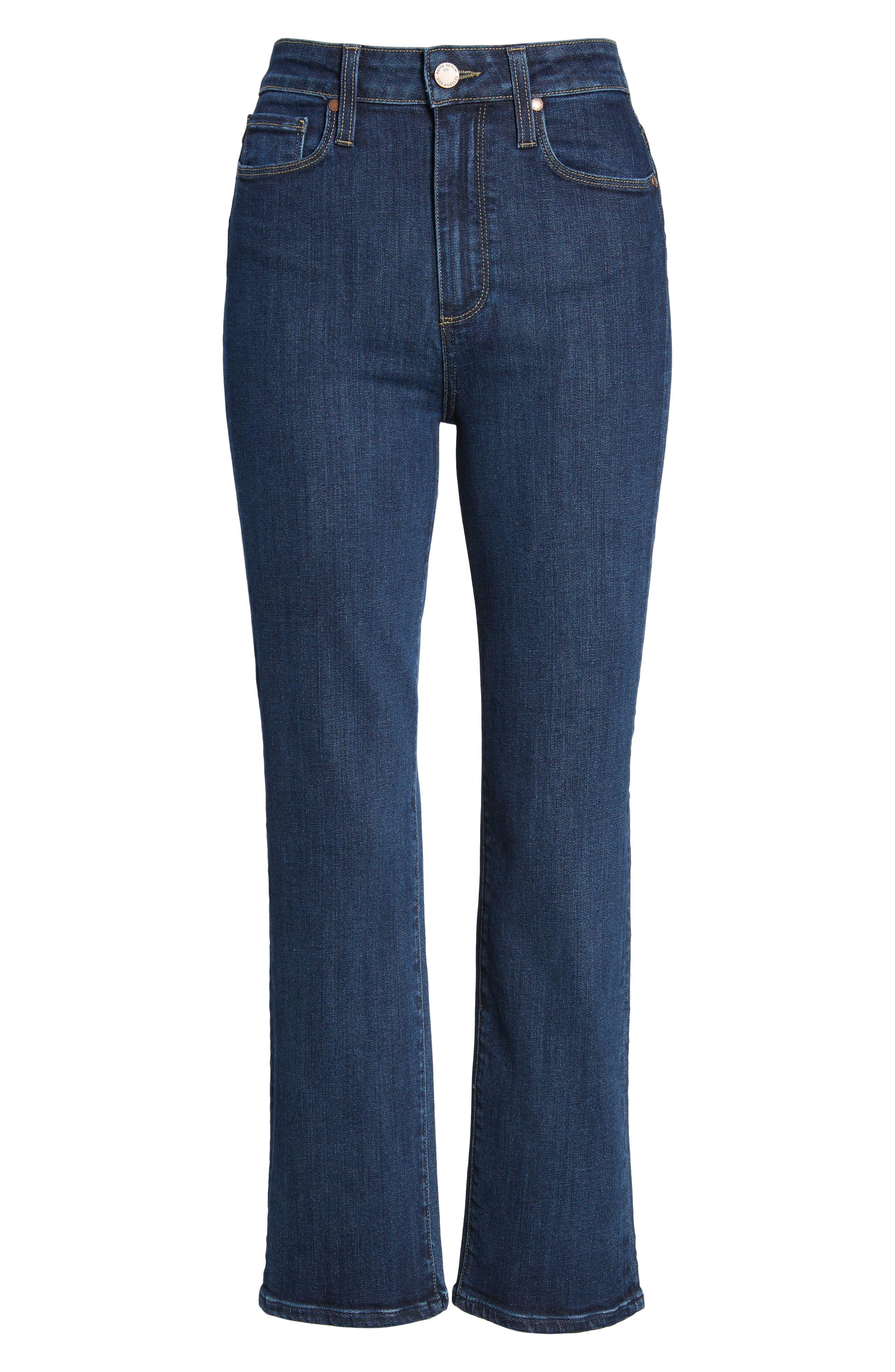 Margot High Waist Ankle Straight Leg Jeans,                             Alternate thumbnail 7, color,