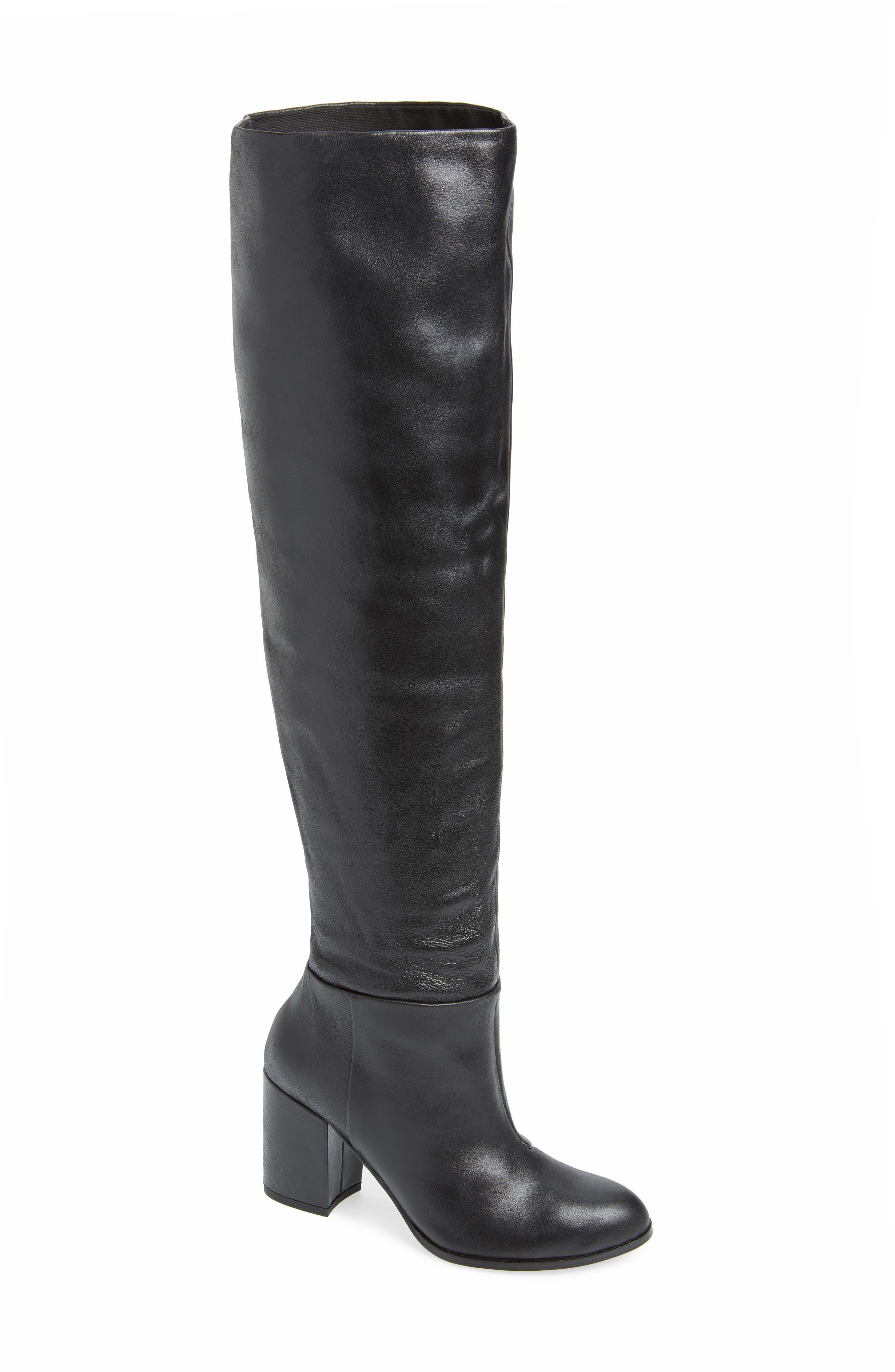 Kelsi Dagger Brooklyn Walker Over The Knee Scrunch Boot, Black