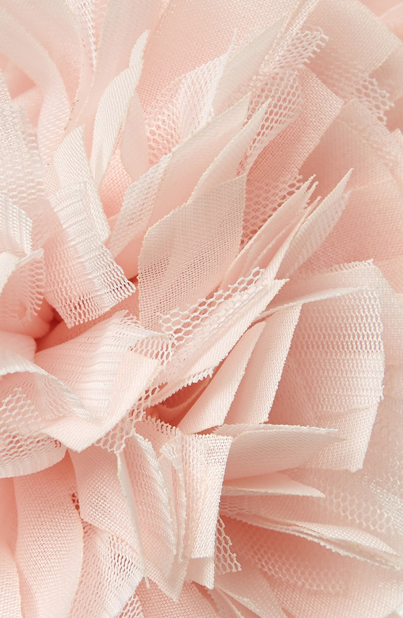 Manière Tulle Flower Headband,                             Alternate thumbnail 2, color,                             SOFT PINK