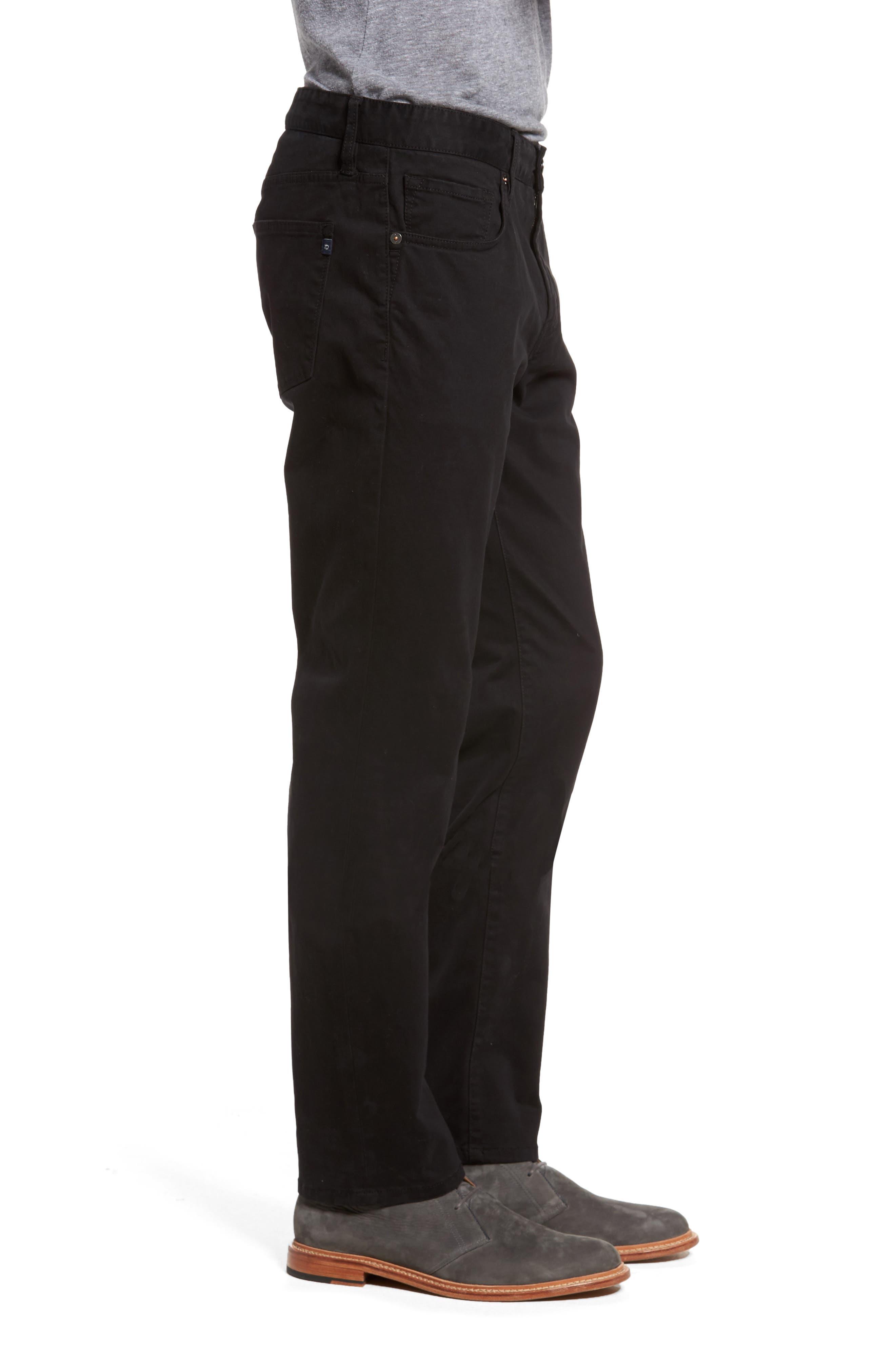 Brushed Twill Five-Pocket Pants,                             Alternate thumbnail 3, color,                             BLACK