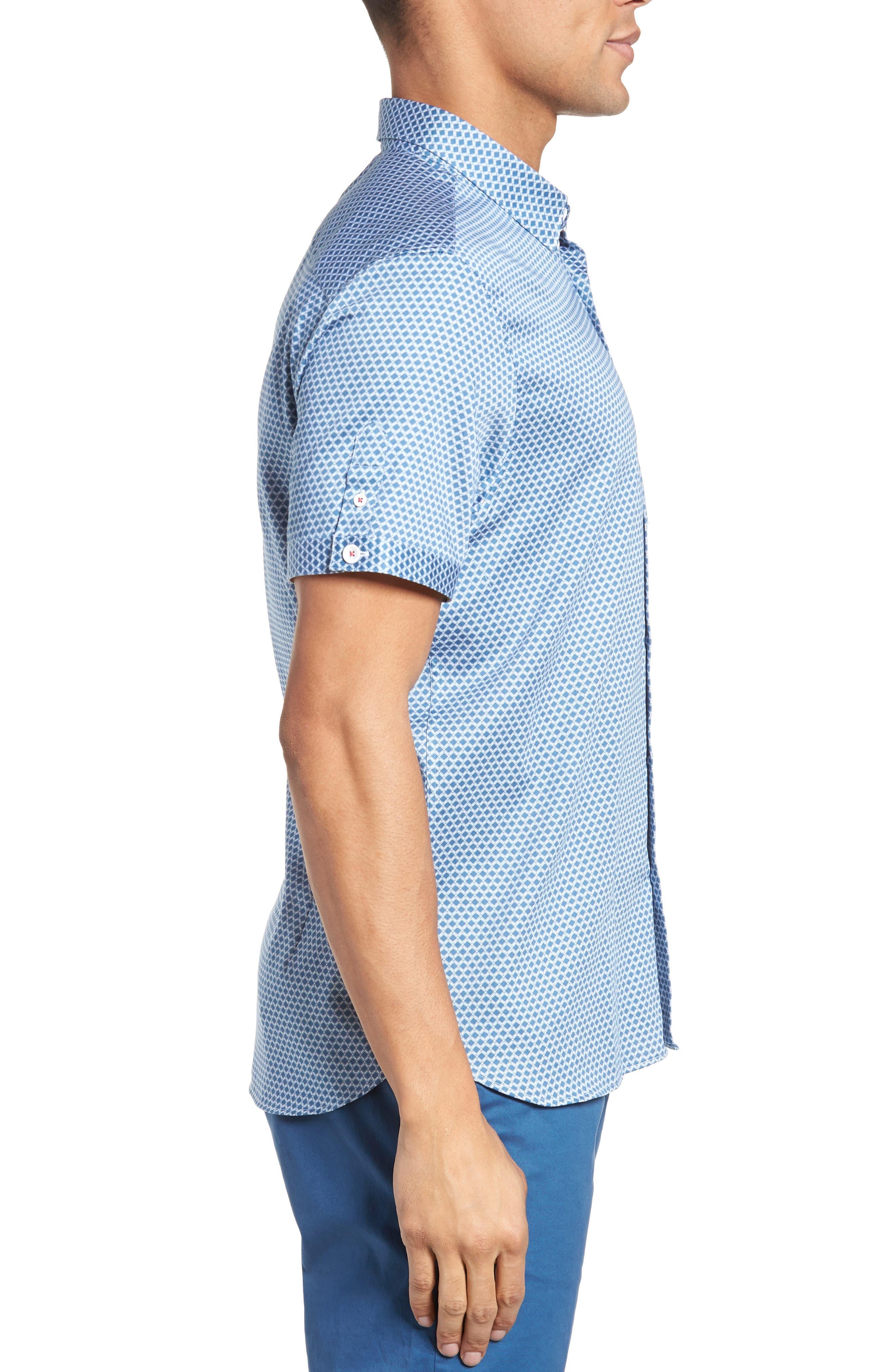 Gudvutt Short Sleeve Sport Shirt,                             Alternate thumbnail 3, color,                             400