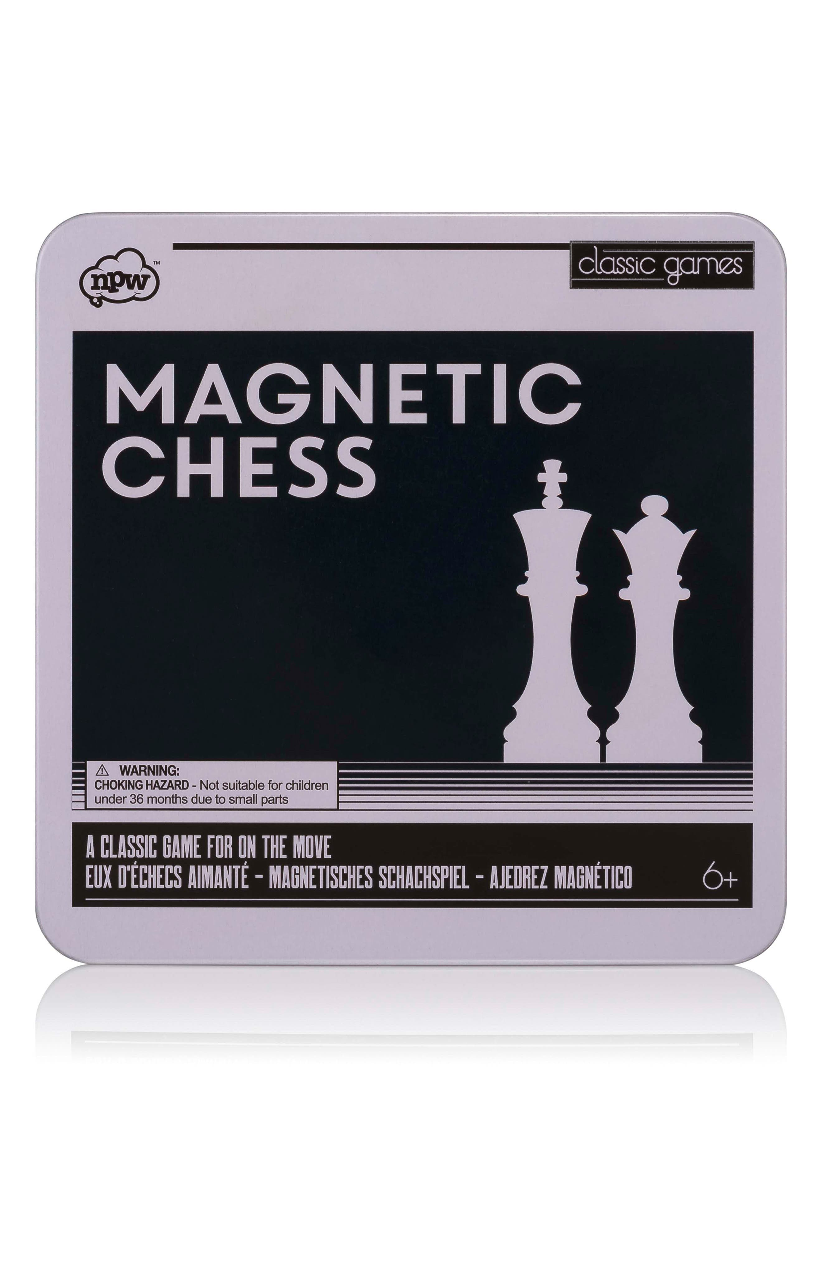 Classic Games 33-Piece Magnetic Chess Set,                             Main thumbnail 1, color,                             001