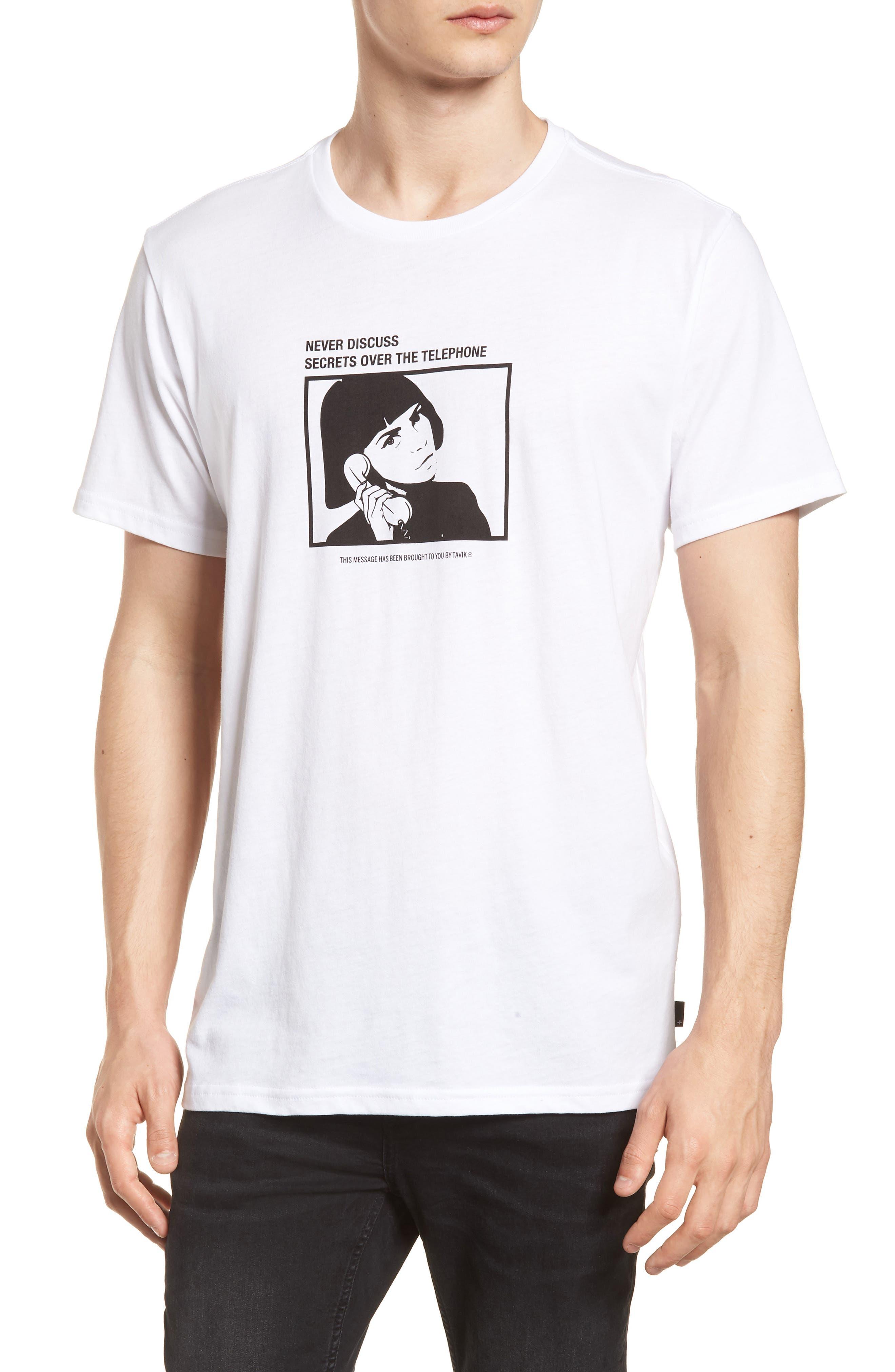 Secret Machine T-Shirt,                             Main thumbnail 1, color,                             WHITE