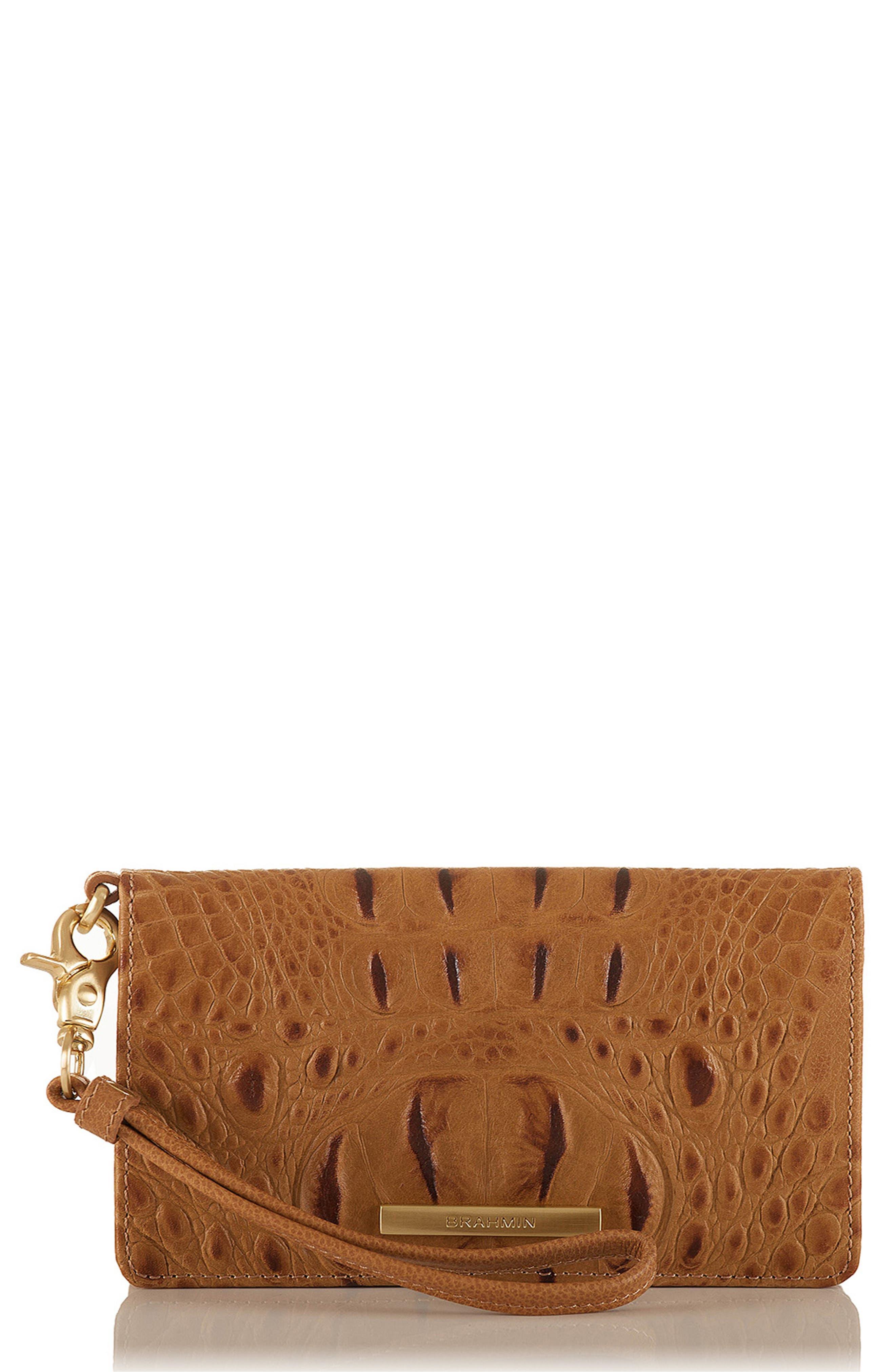 Debra Croc Embossed Leather Phone Wallet,                         Main,                         color, 205