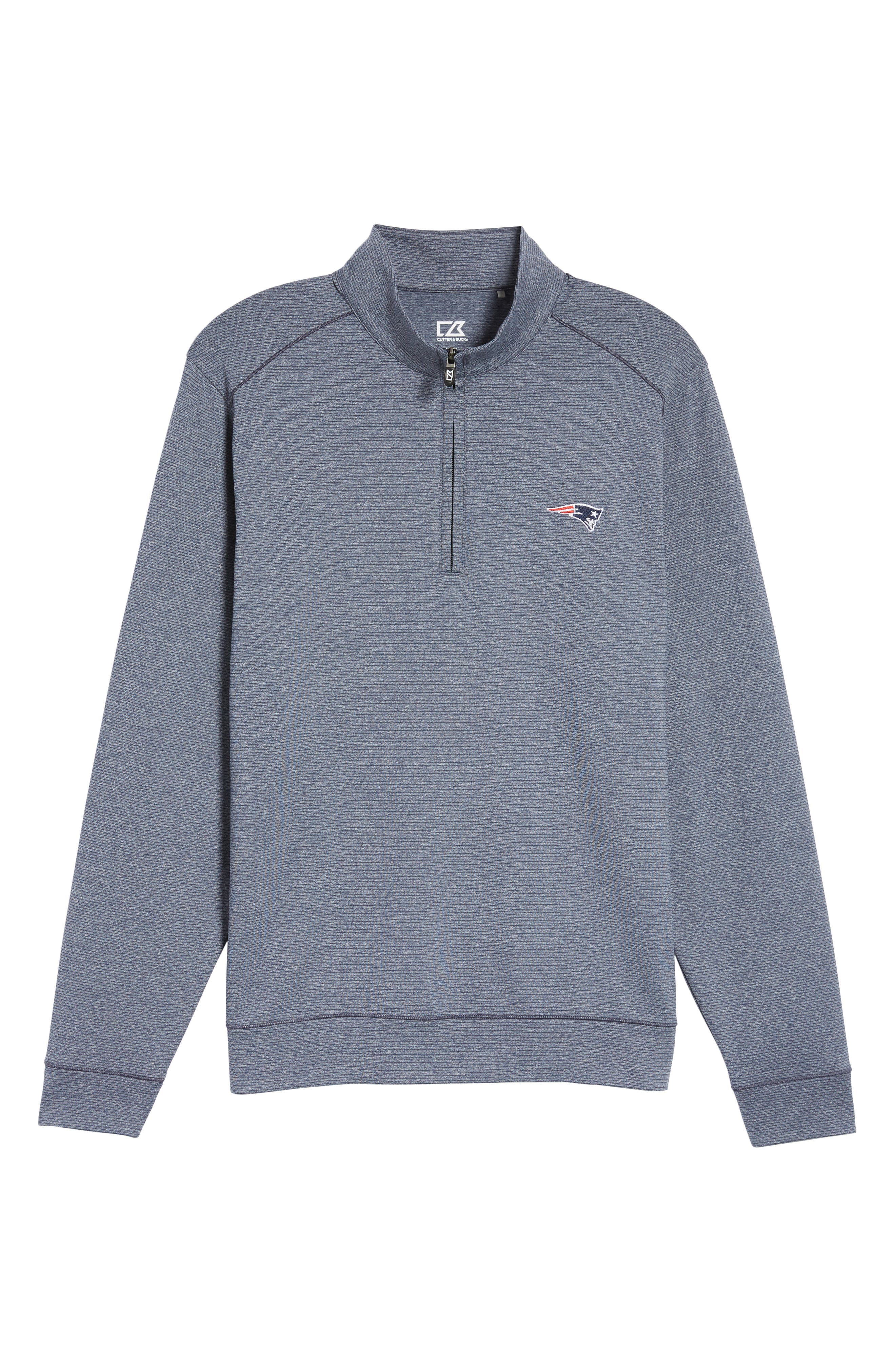 Shoreline - New England Patriots Half Zip Pullover,                             Alternate thumbnail 6, color,                             976