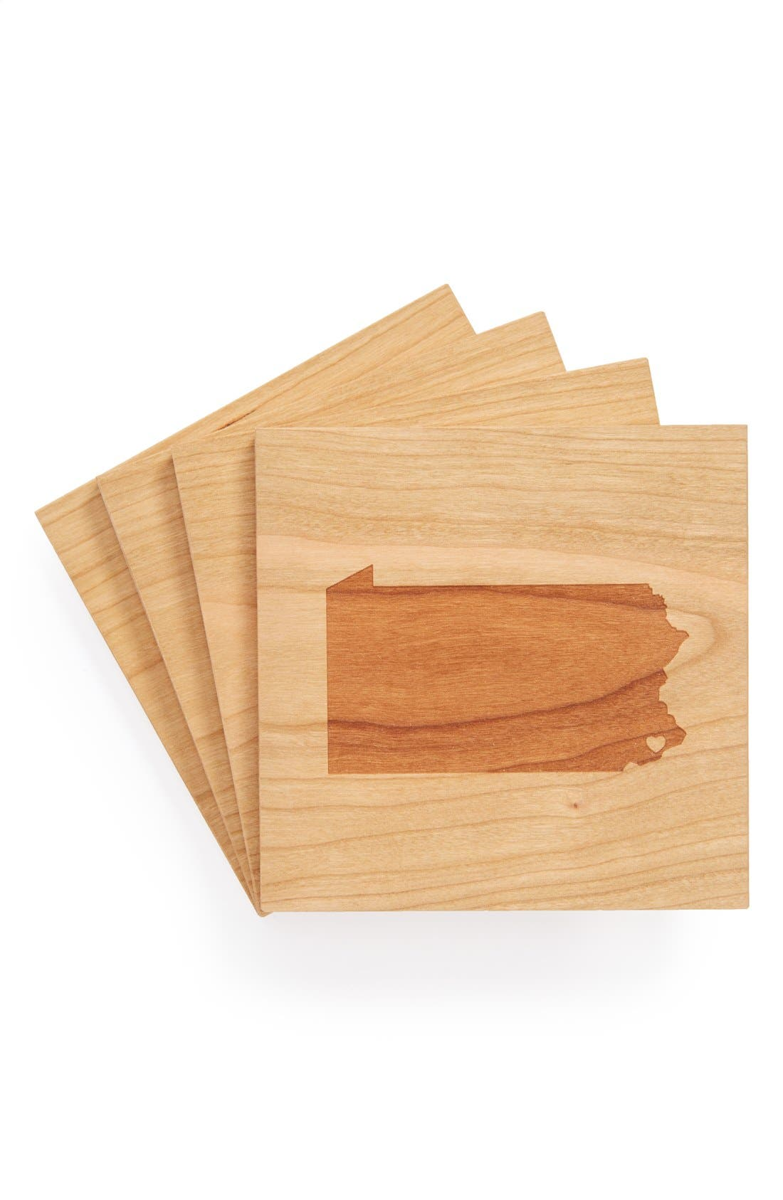 'State Silhouette' Coasters,                             Main thumbnail 40, color,