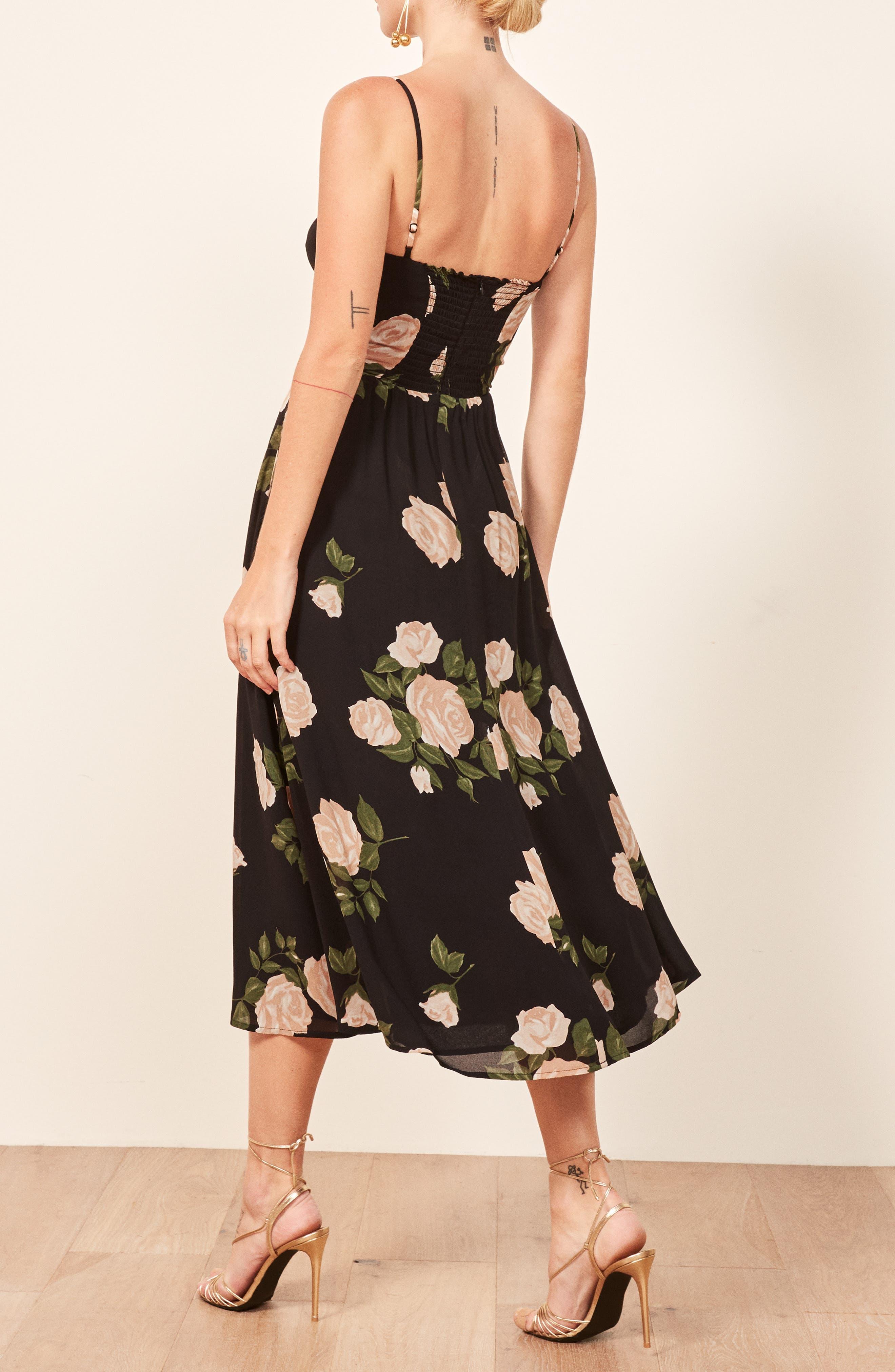 Rosehip Fit & Flare Dress,                             Alternate thumbnail 3, color,                             VENUS