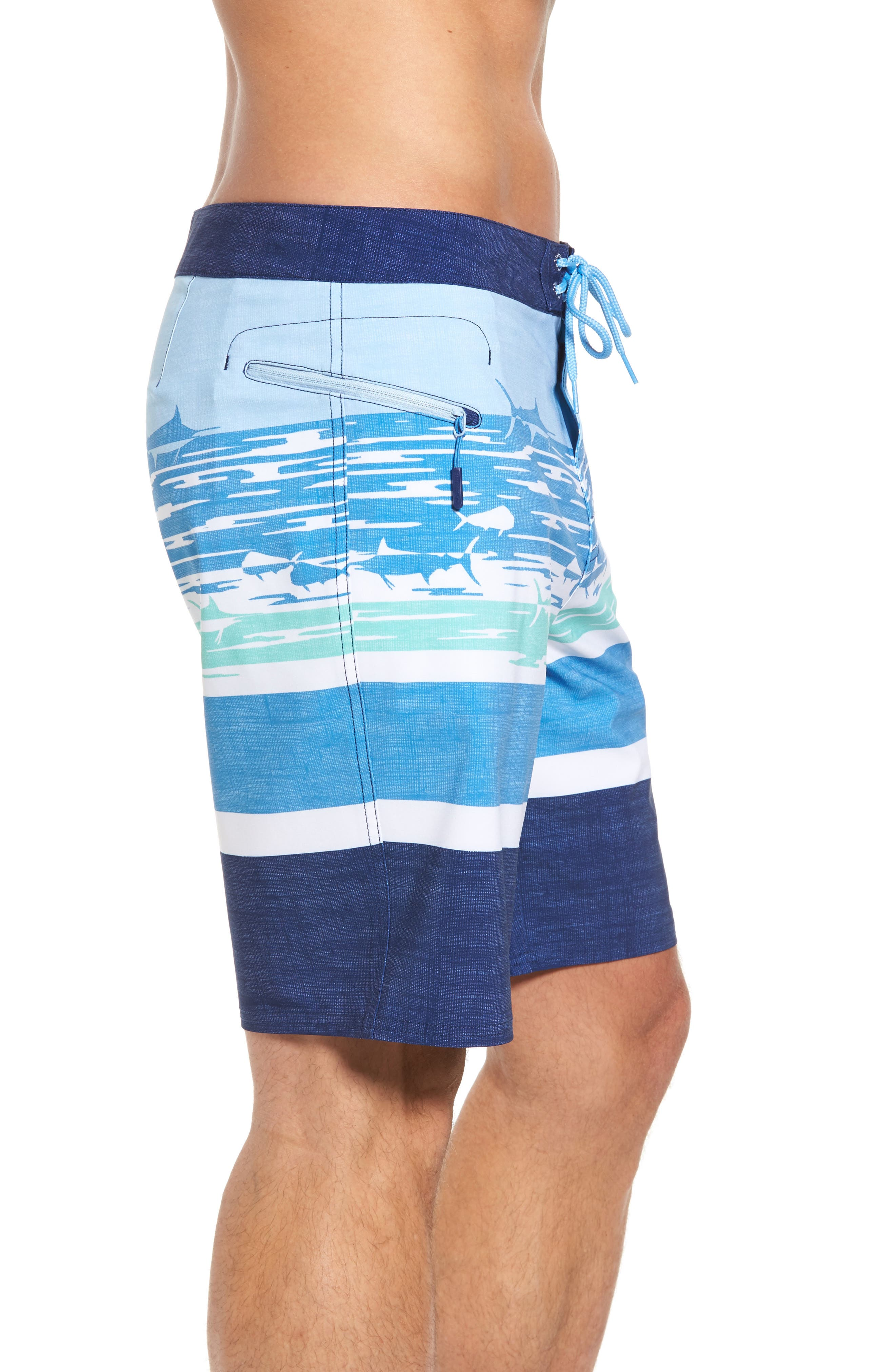 At Sea Scenic Board Shorts,                             Alternate thumbnail 3, color,