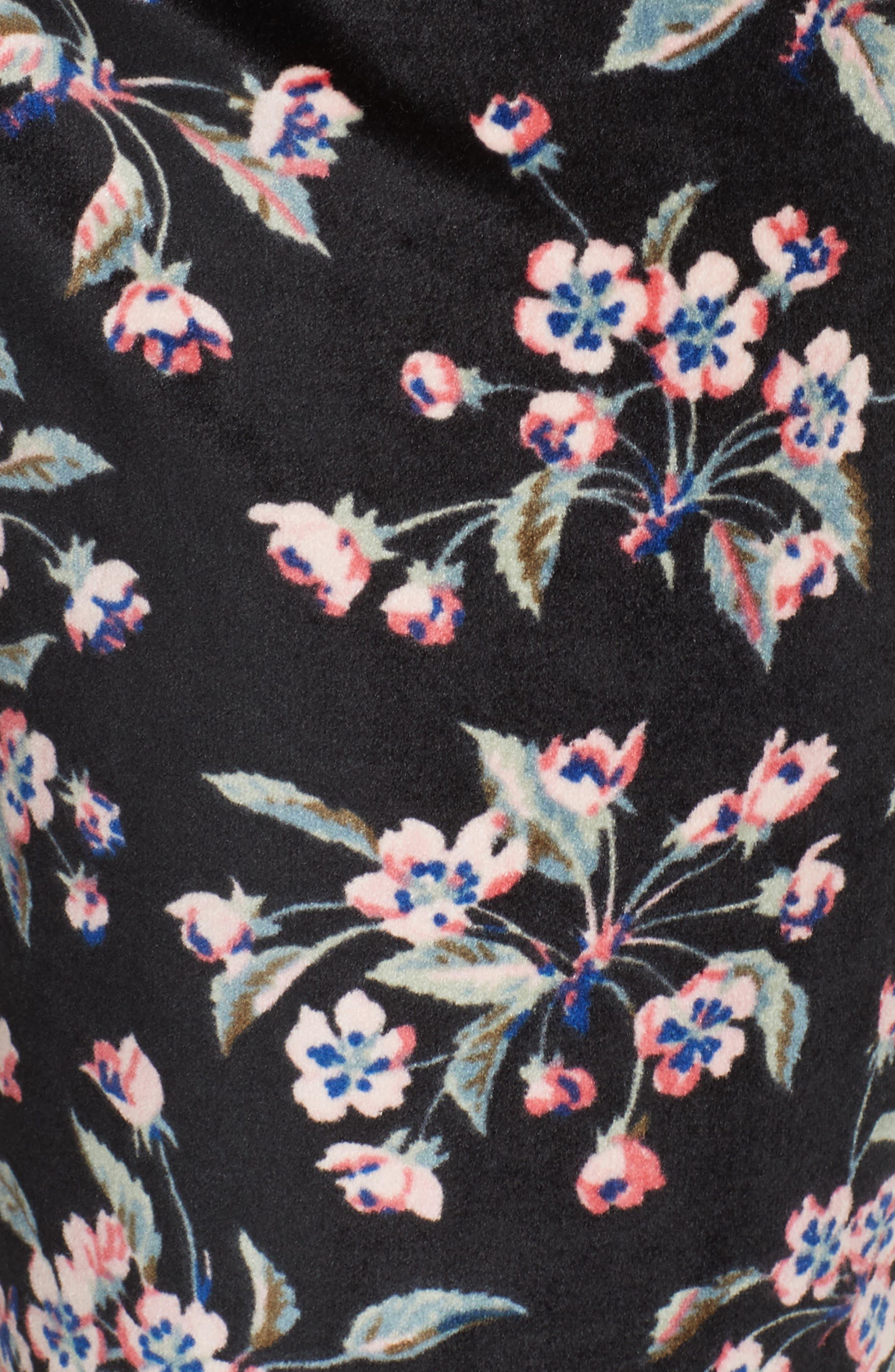 Tilda Velvet Pants,                             Alternate thumbnail 5, color,                             BLACK COMBO