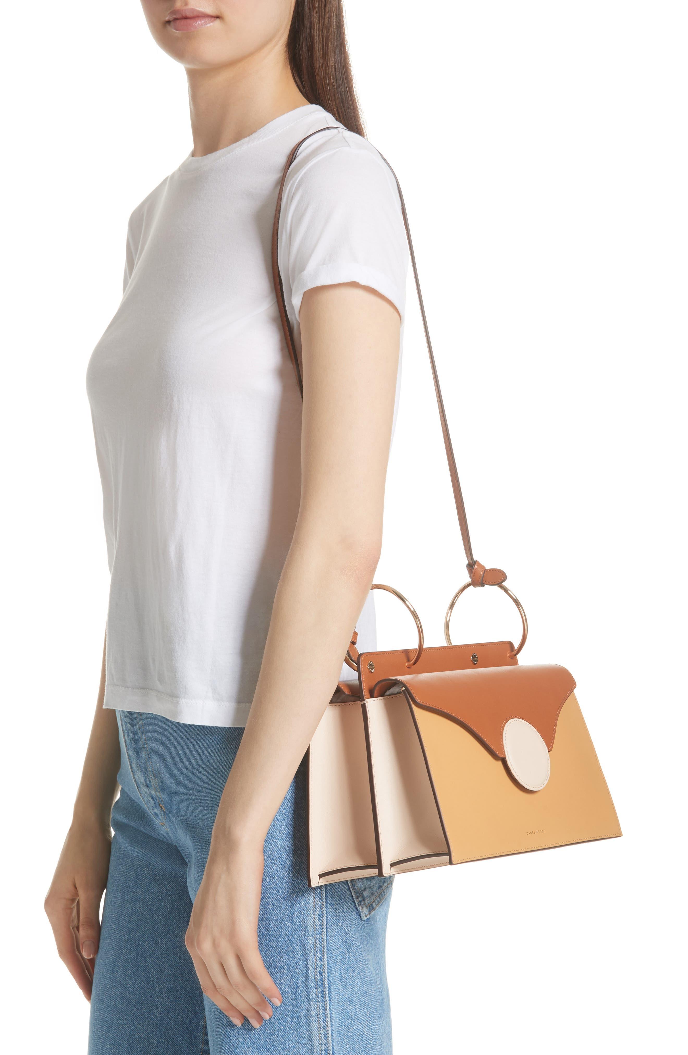 Phoebe Leather Crossbody Bag,                             Alternate thumbnail 2, color,                             SAND/ AMBER