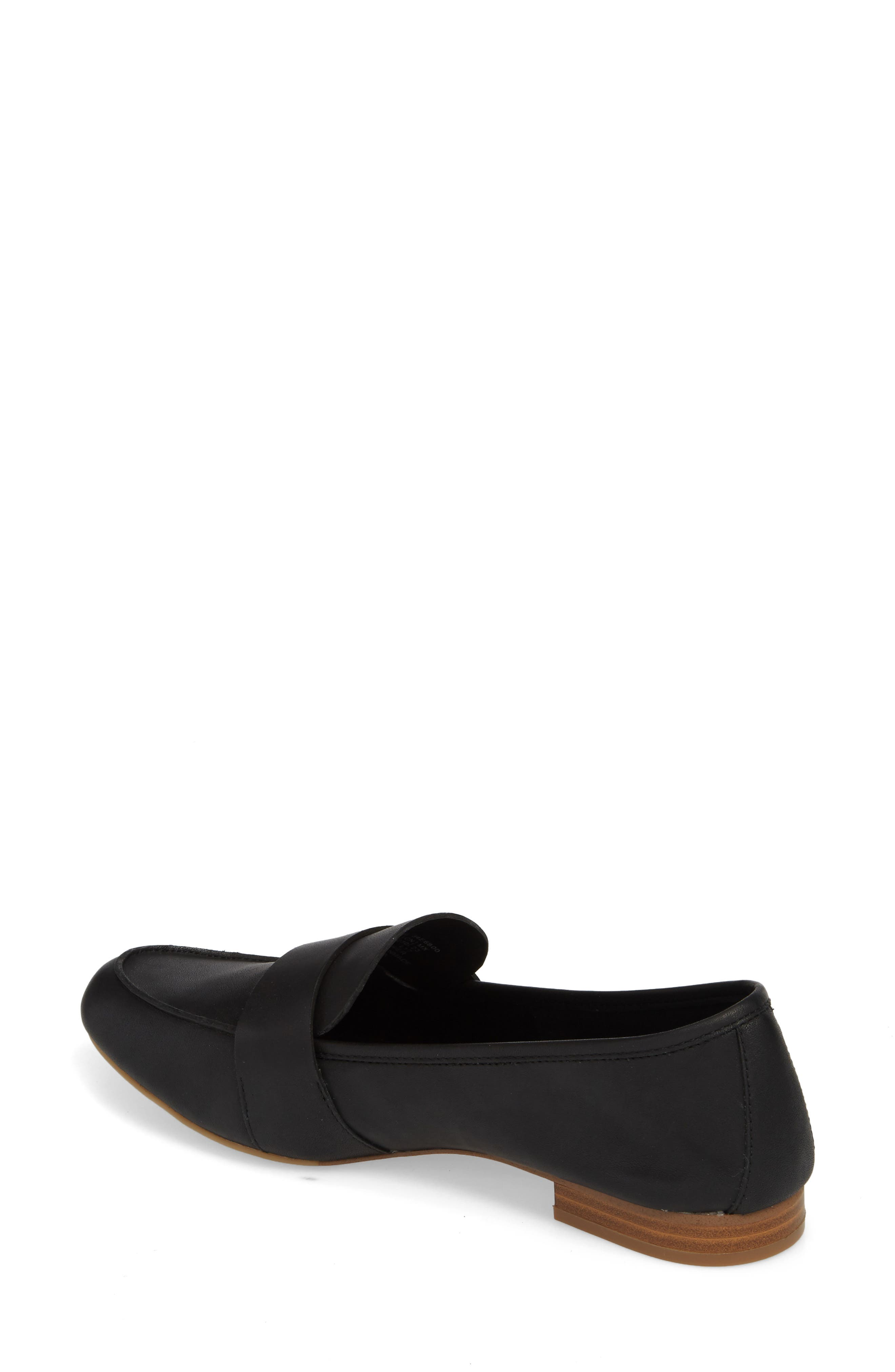 Cemmie Loafer,                             Alternate thumbnail 2, color,                             BLACK LEATHER