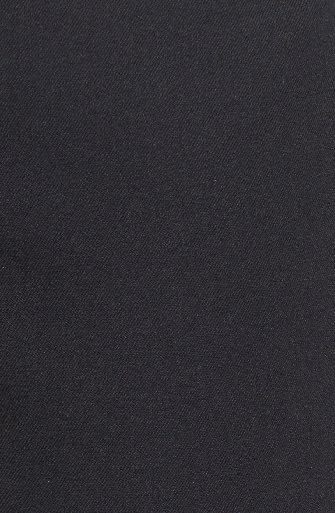 MING WANG,                             Woven Slim Ankle Pants,                             Alternate thumbnail 10, color,                             BLACK