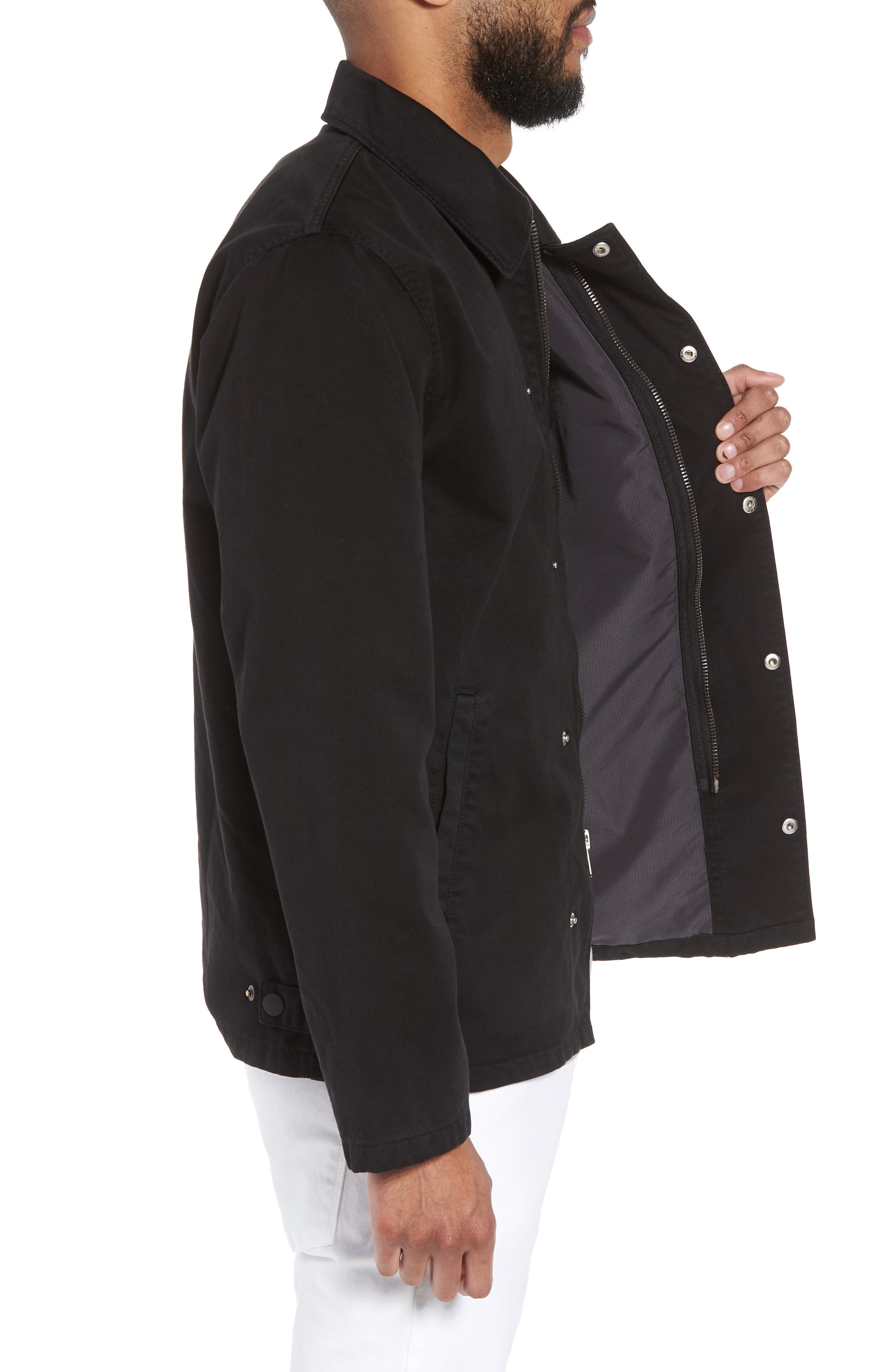 Hudson Military Jacket,                             Alternate thumbnail 3, color,                             001