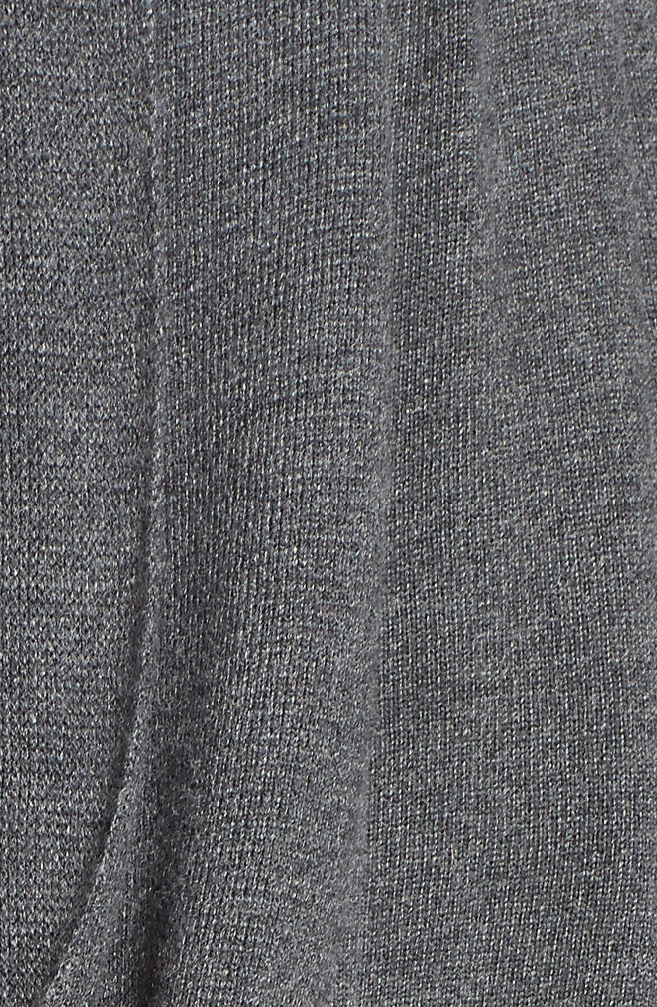 LongWrap Cardigan,                             Alternate thumbnail 5, color,                             DARK STEEL HEATHER