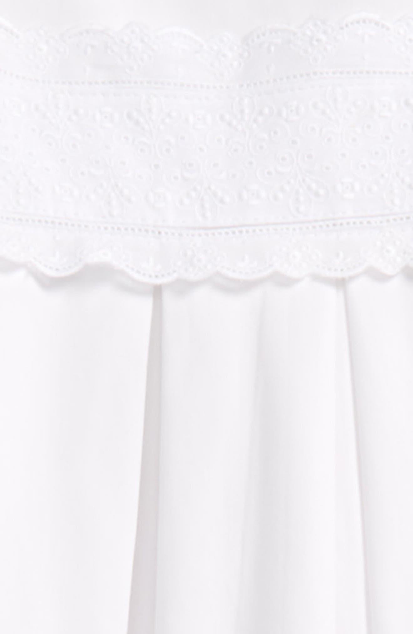 Heritage Christening Gown & Bonnet Set,                             Alternate thumbnail 2, color,                             WHITE