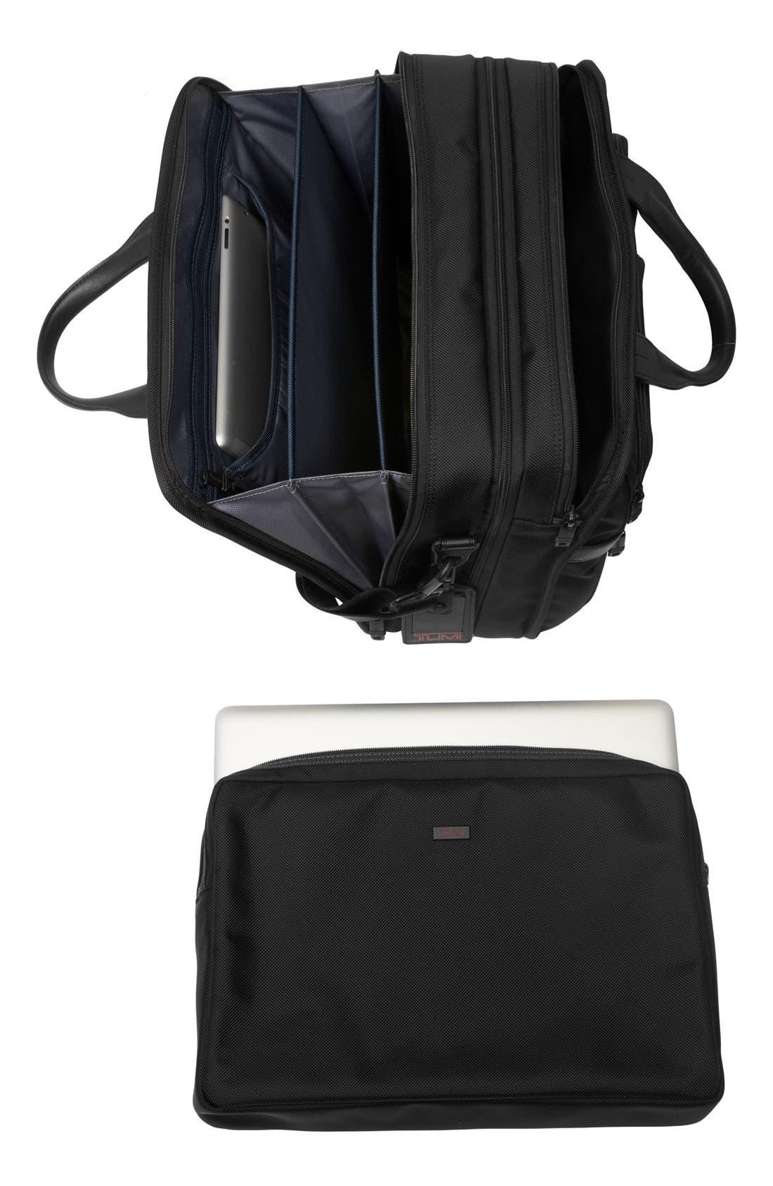 Alpha 2 Expandable Laptop Briefcase,                             Alternate thumbnail 4, color,                             BLACK