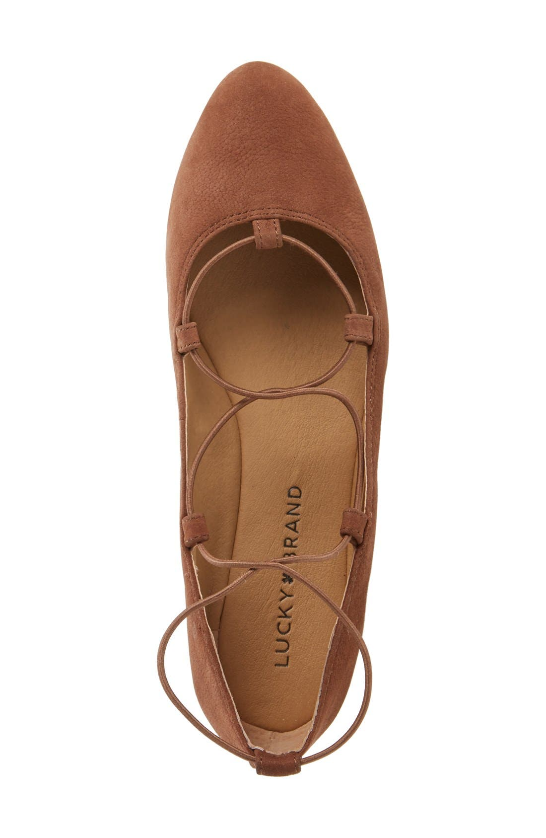 'Aviee' Lace-Up Flat,                             Alternate thumbnail 32, color,