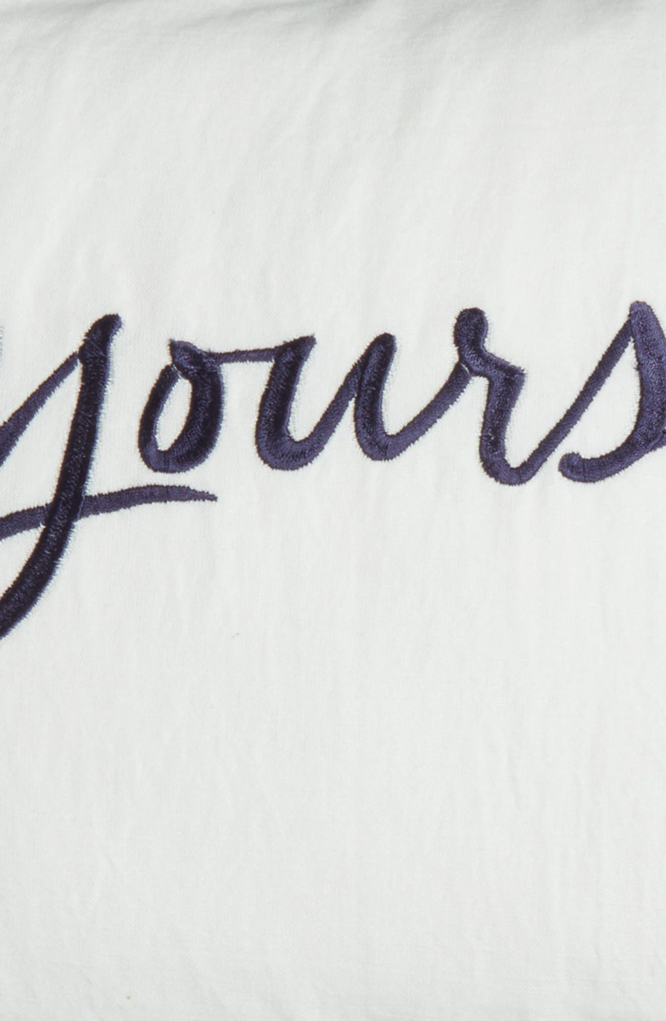 mine/yours accent pillow,                             Alternate thumbnail 3, color,                             100