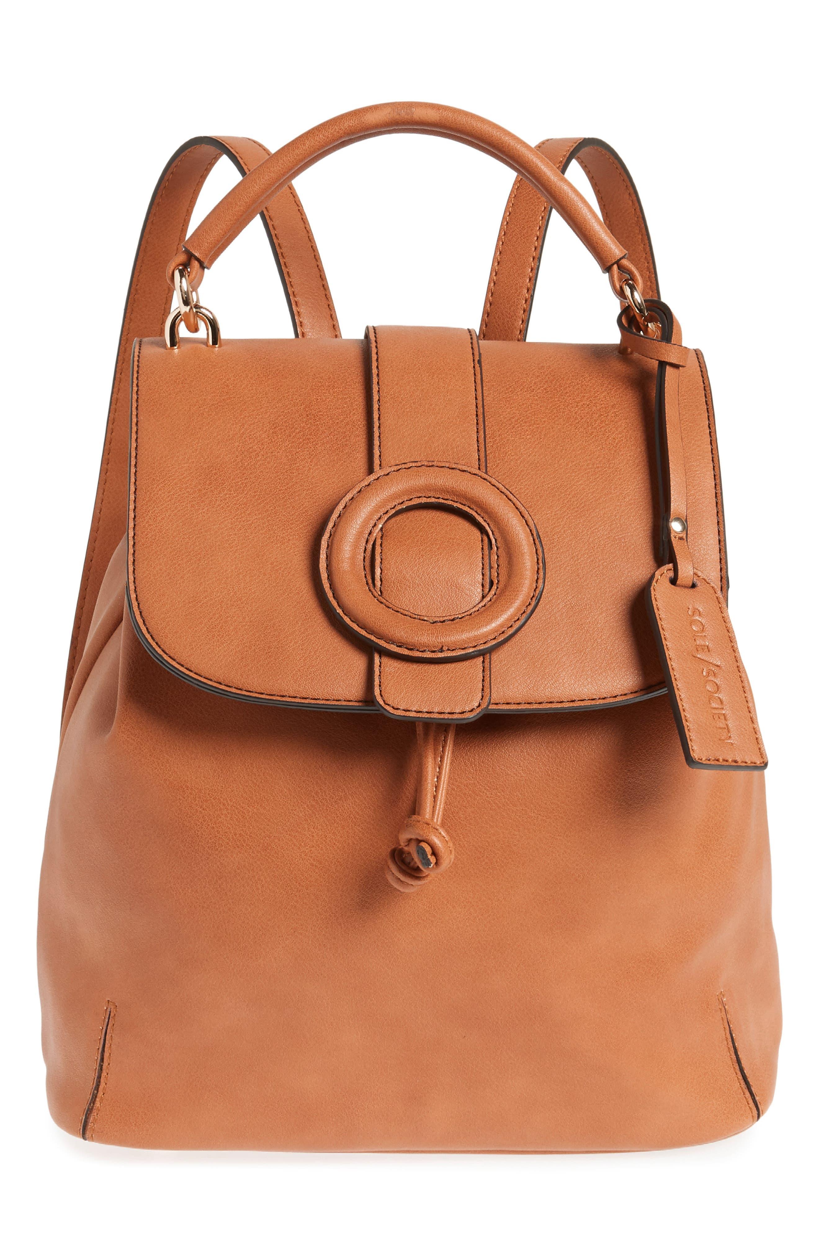 Buhck Backpack,                         Main,                         color, COGNAC