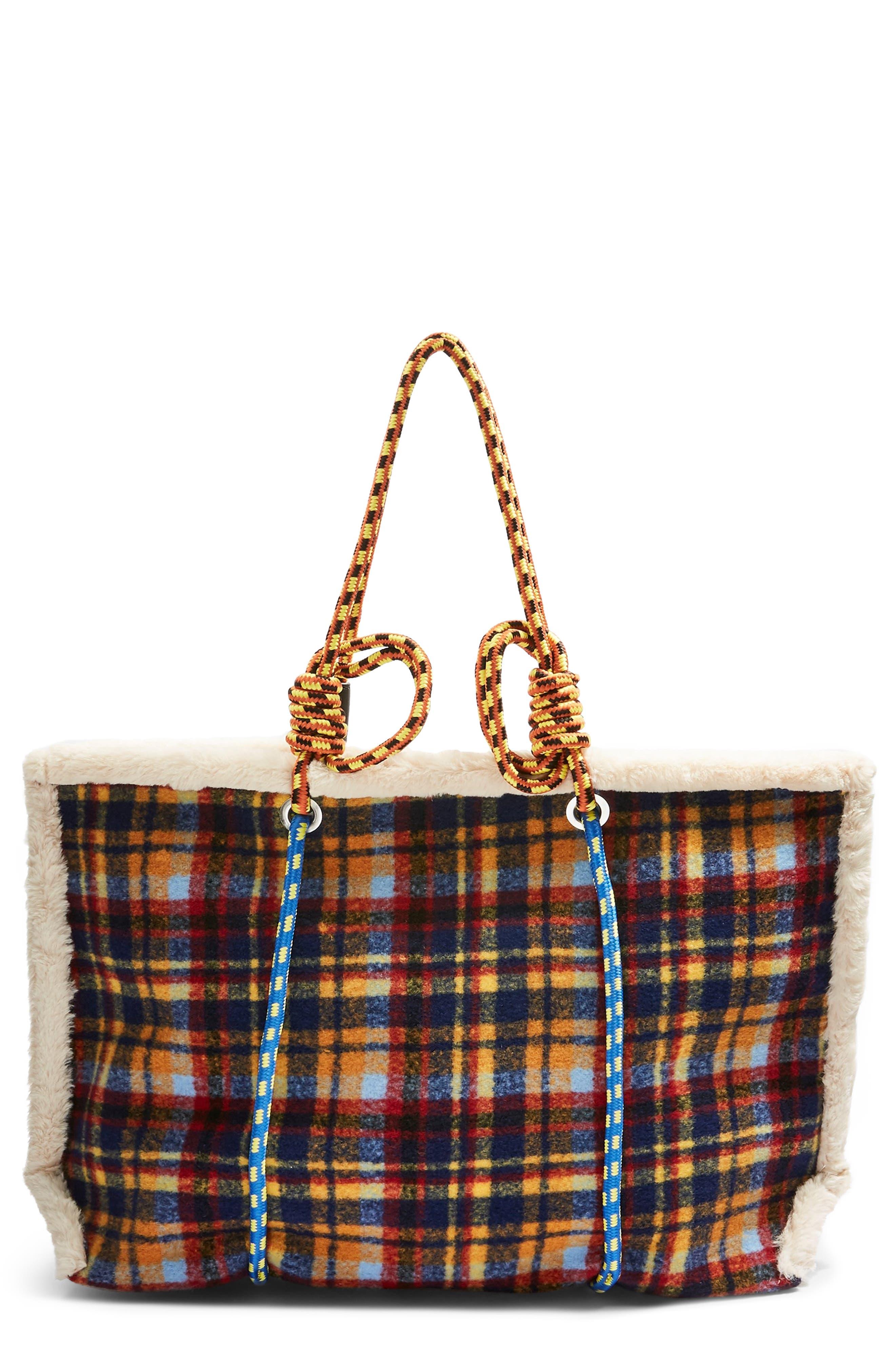 Blanket Rope Tote Bag,                         Main,                         color, BLUE MULTI