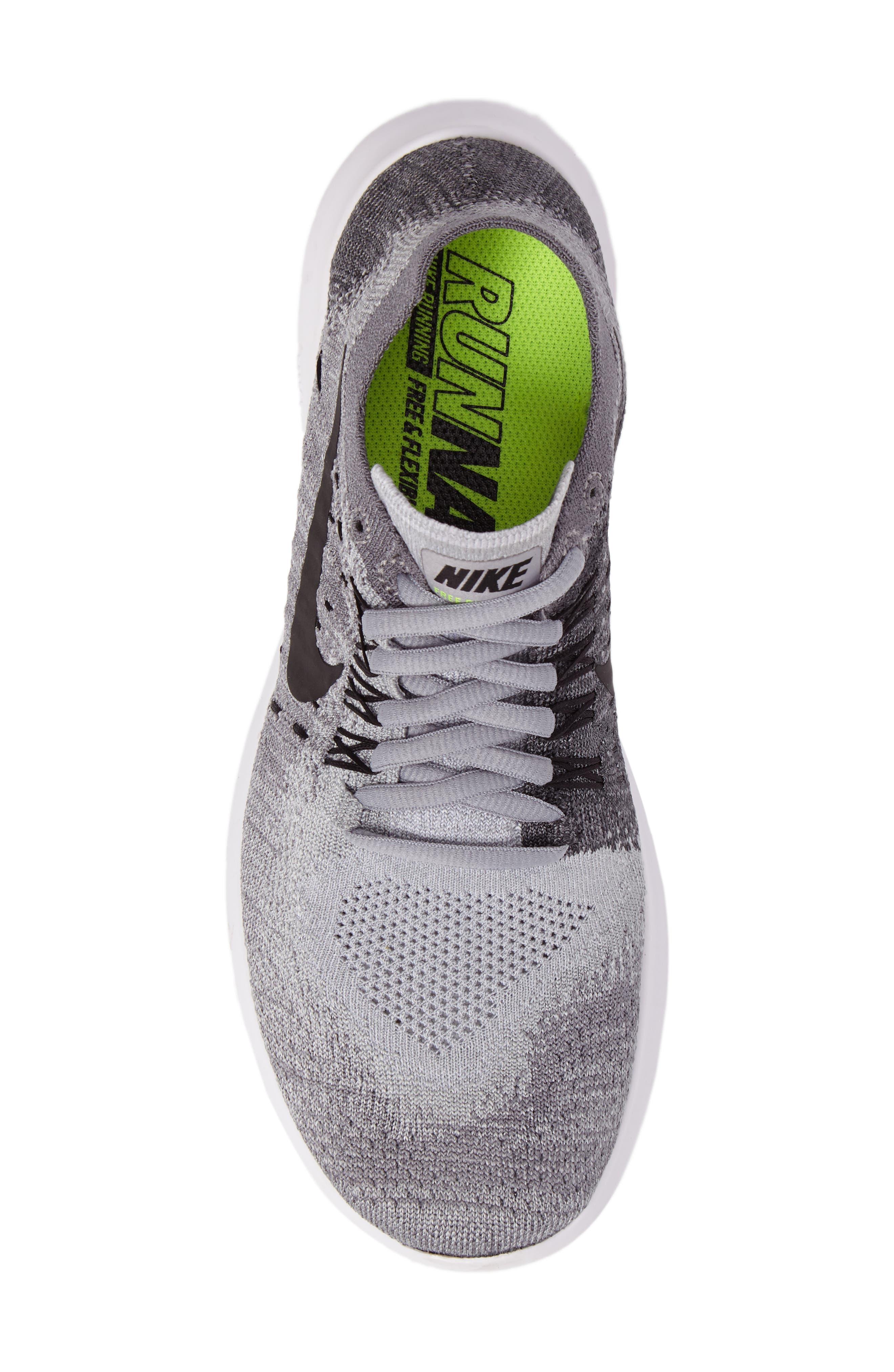 Free RN Flyknit 2 Running Shoe,                             Alternate thumbnail 5, color,                             020