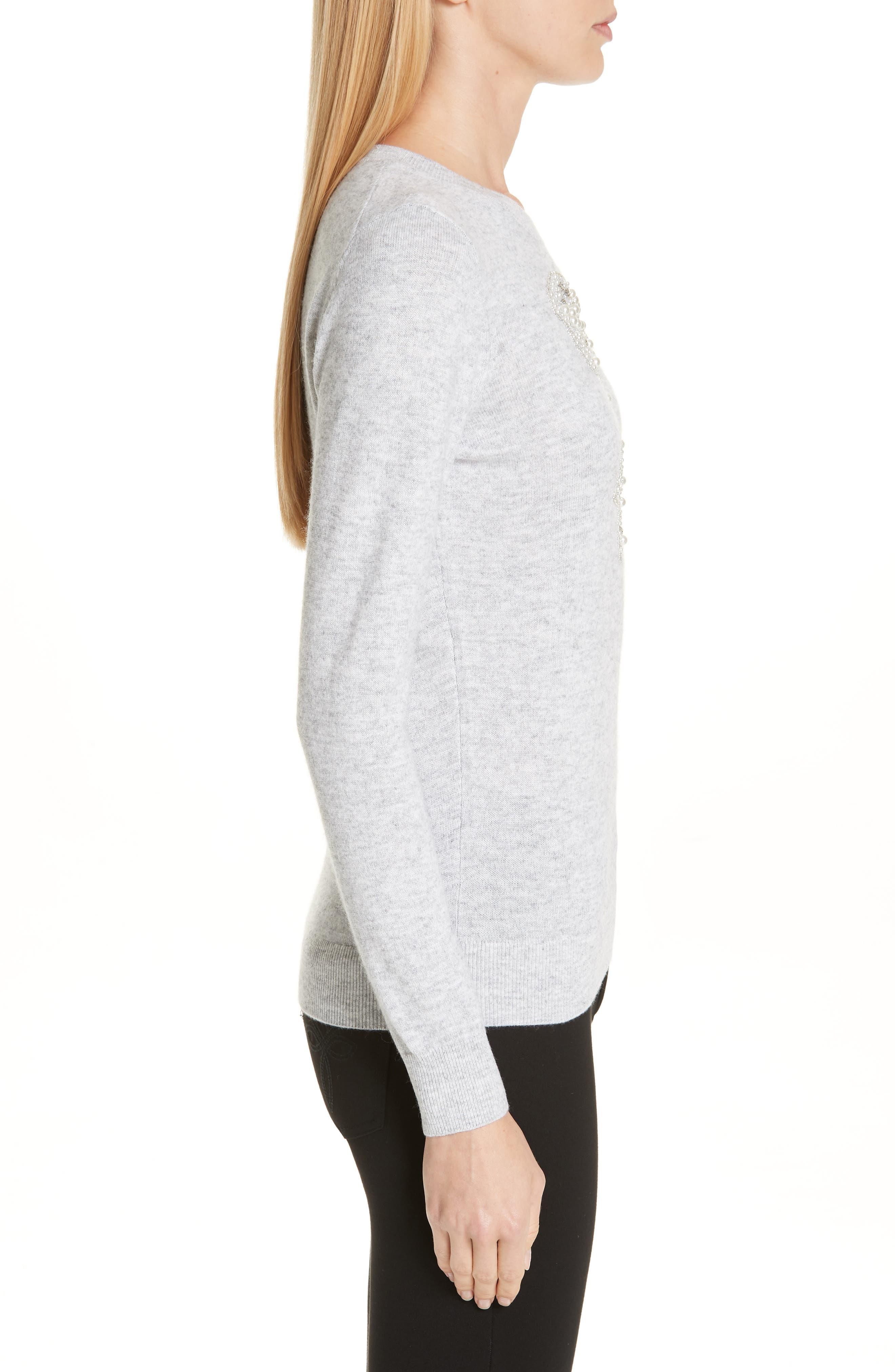 Embellished Sweater,                             Alternate thumbnail 3, color,                             030