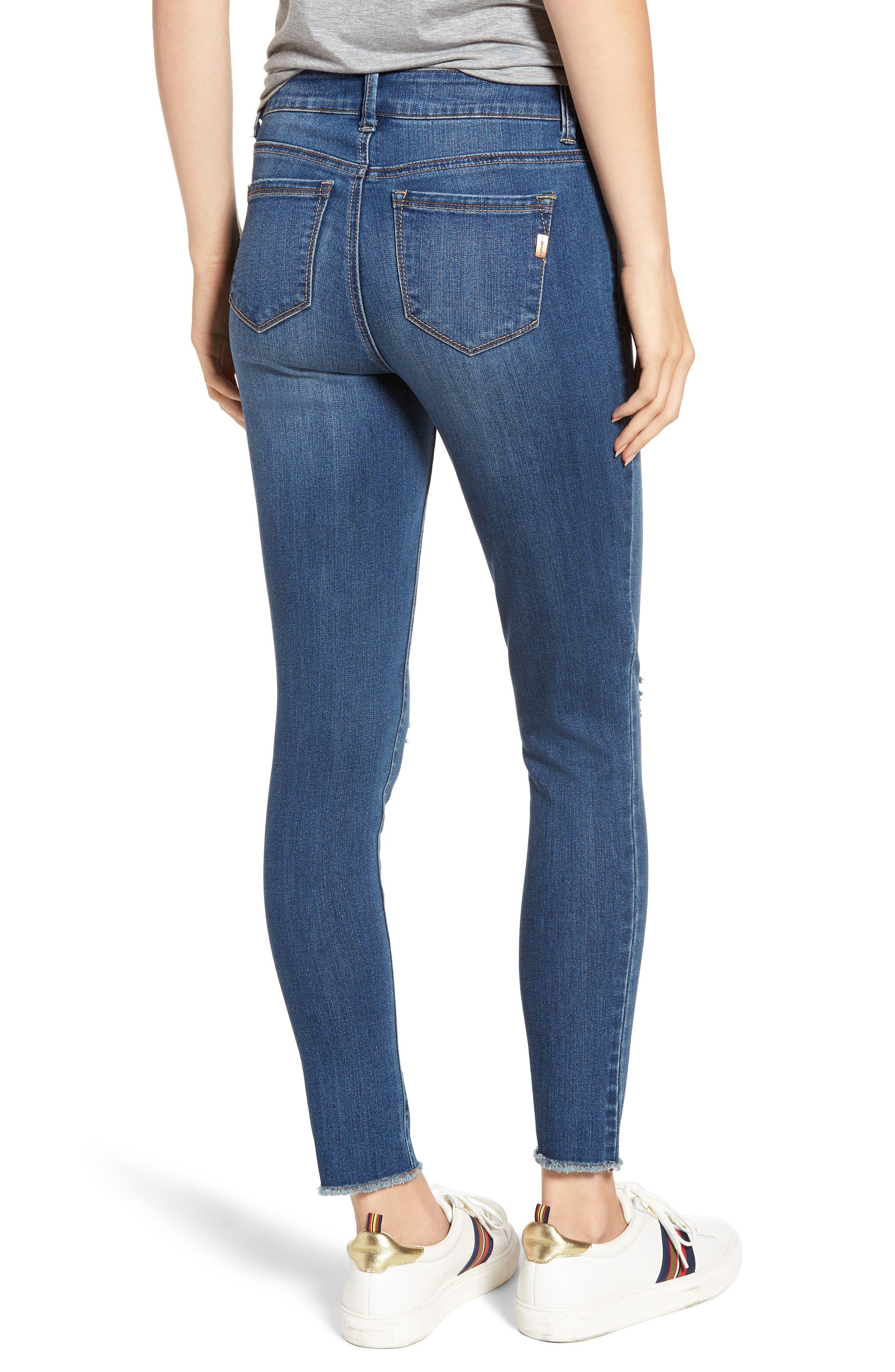 1822 DENIM,                             Distressed Skinny Jeans,                             Alternate thumbnail 2, color,                             CHRISTINA