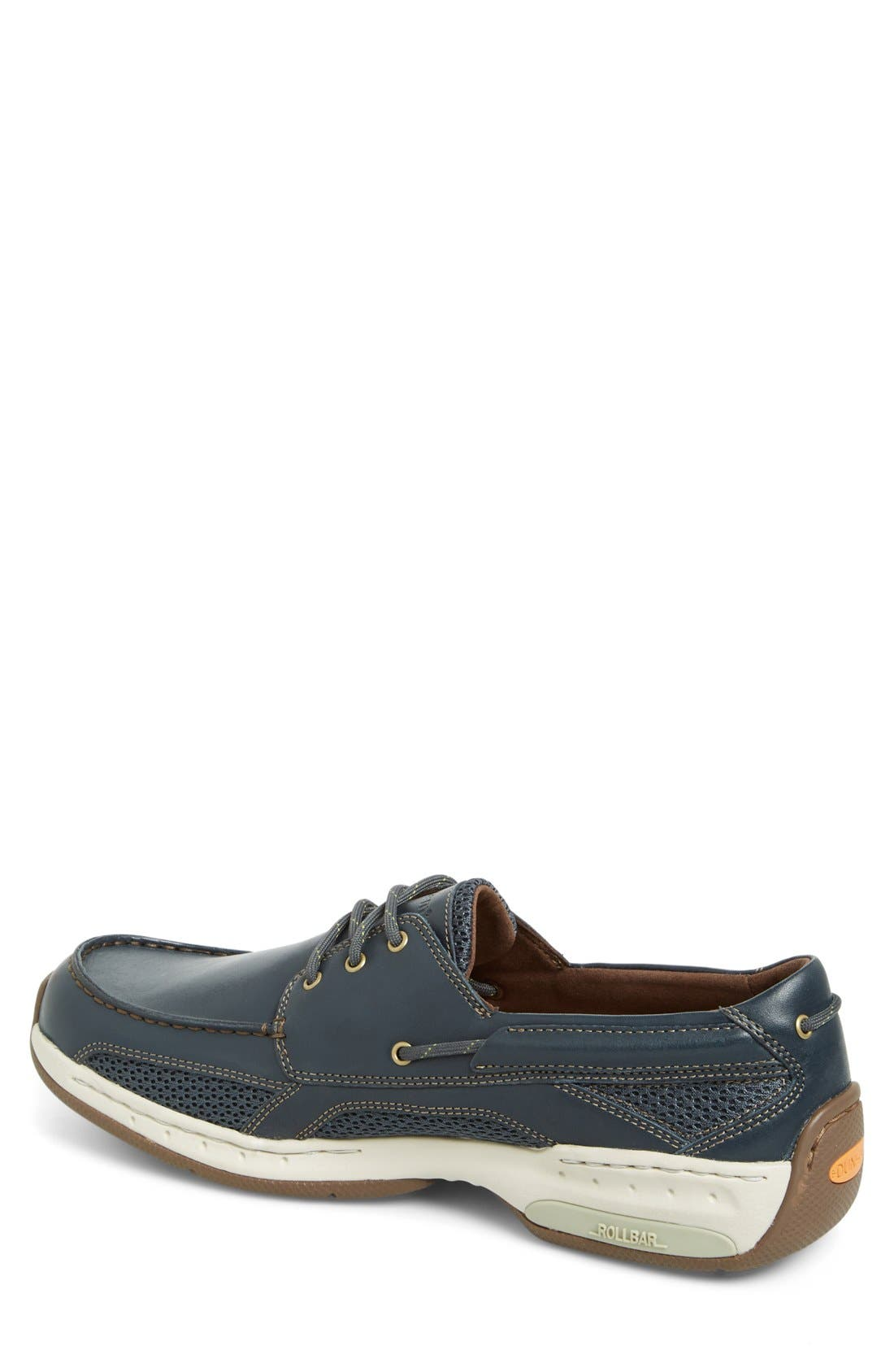 'Captain' Boat Shoe,                             Alternate thumbnail 4, color,                             NAVY
