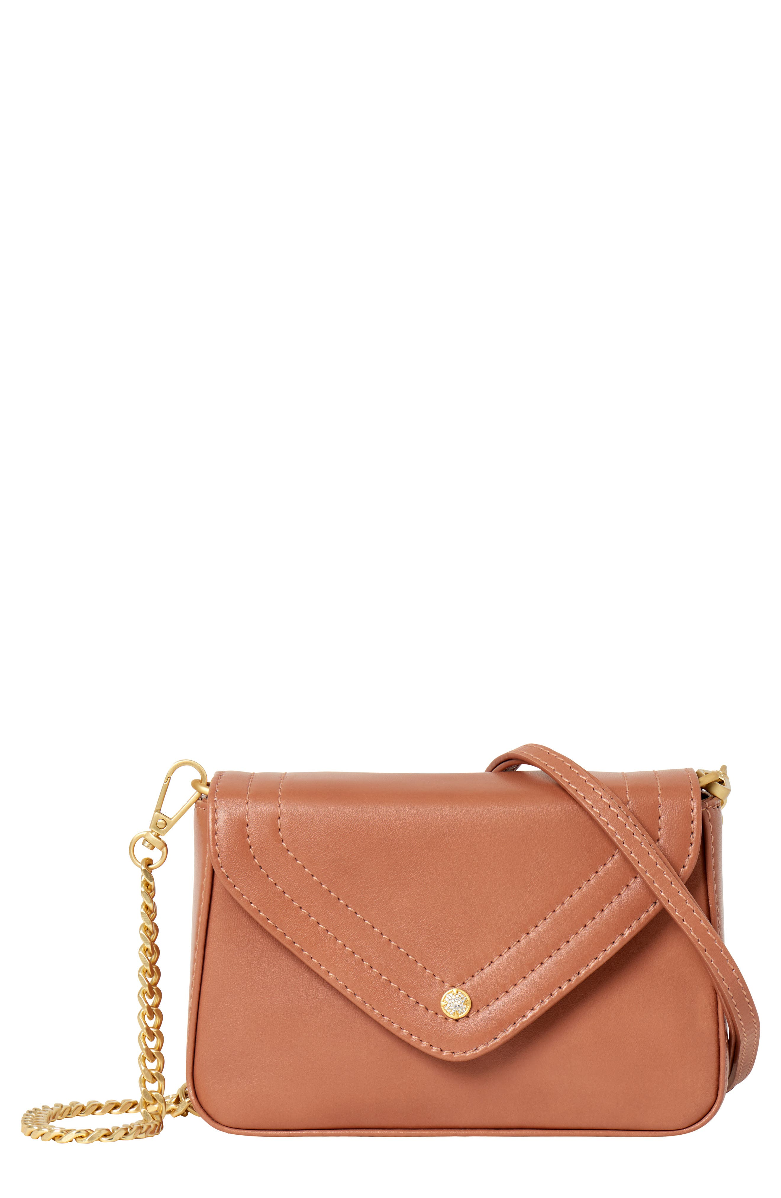 Maiden Leather Crossbody Bag,                             Main thumbnail 1, color,                             ROSE